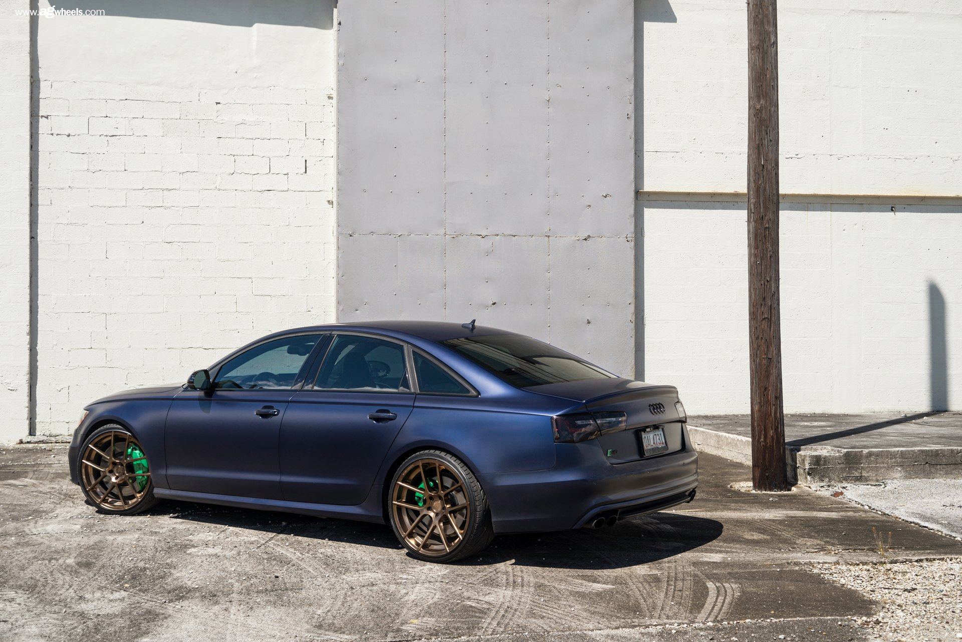 audi s6 with matte blue custom paint on classy rims by avant garde gallery. Black Bedroom Furniture Sets. Home Design Ideas