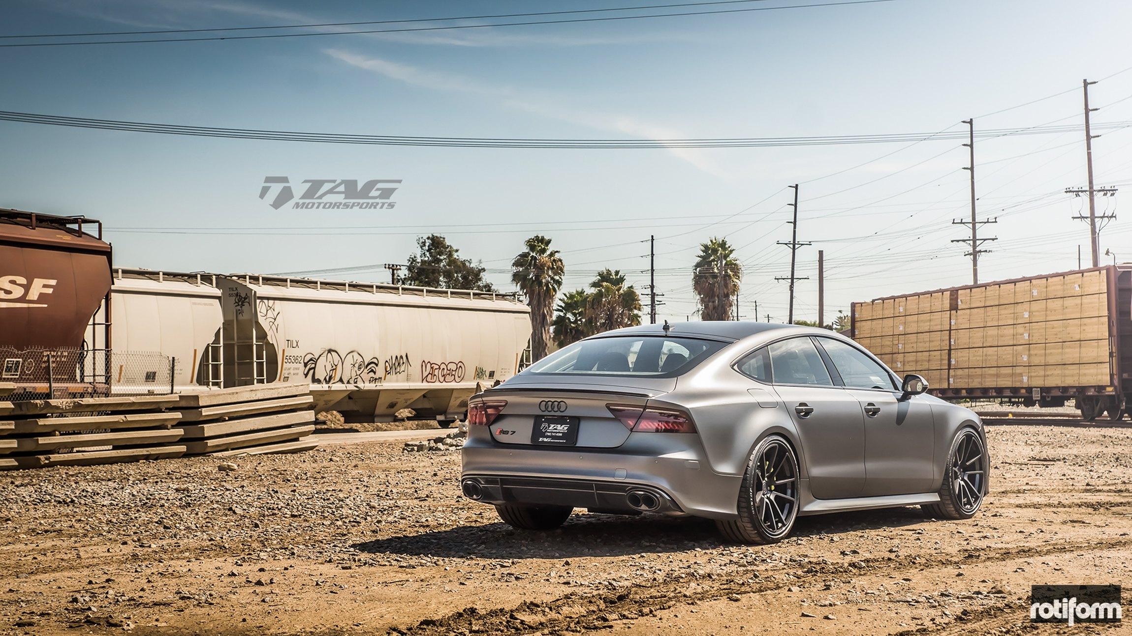 Stunning Matte Gray Audi Rs7 Rocking Sharp Rotiform Custom Wheels