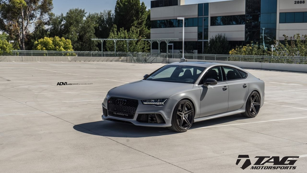audi a7 blacked out. gray audi a7 quattro with blacked out grille photo by adv1