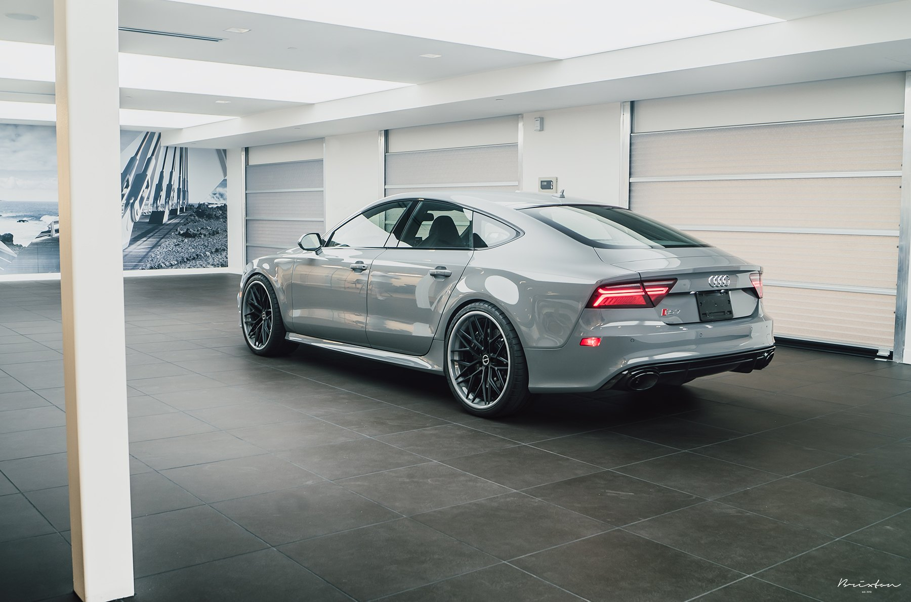 Gray Audi S7 with Custom Rear Diffuser - Photo by Brixton Forged Wheels