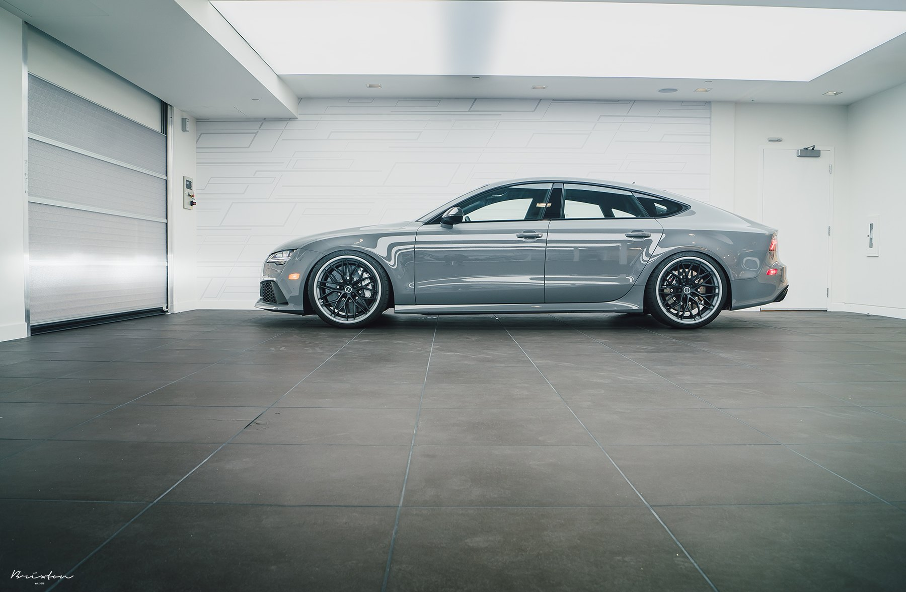 Gray Audi S7 with Custom Brixton Forged Wheels - Photo by Brixton Forged Wheels