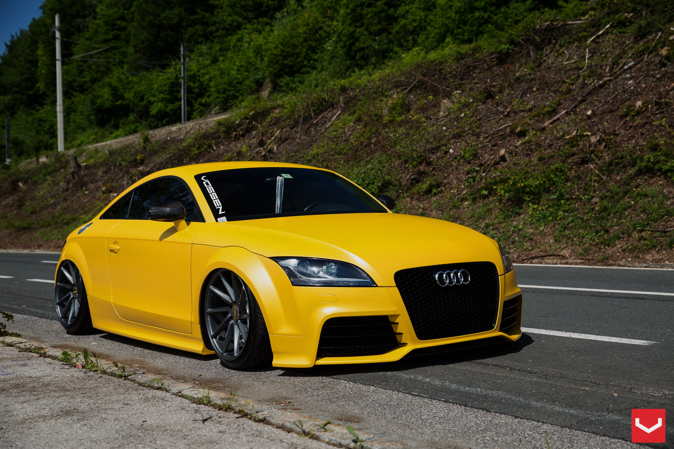 Cool Exterior Upgrades for Yellow Audi TT — CARiD.com Gallery