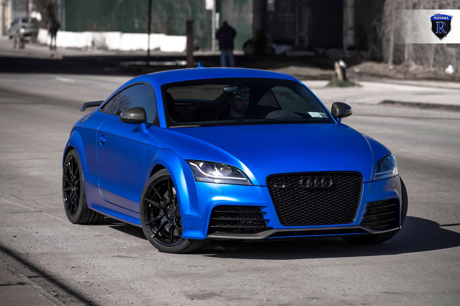 blue chrome audi tt rs by rohana wheels gallery. Black Bedroom Furniture Sets. Home Design Ideas