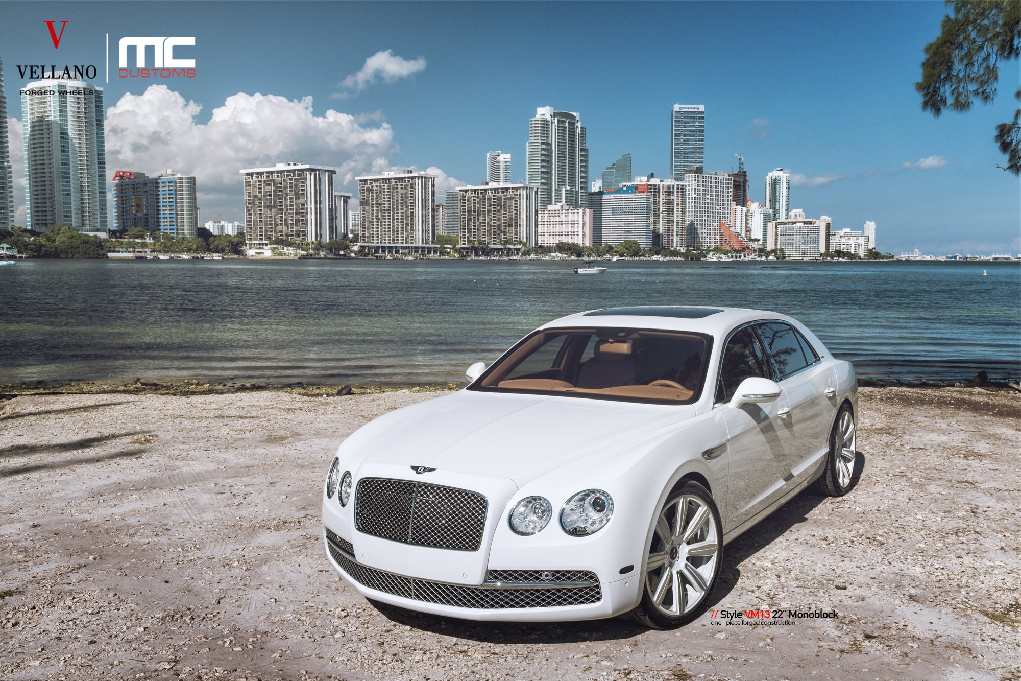 Chrystal Clear Headlights On White Bently Flying Spur Photo By Vellano