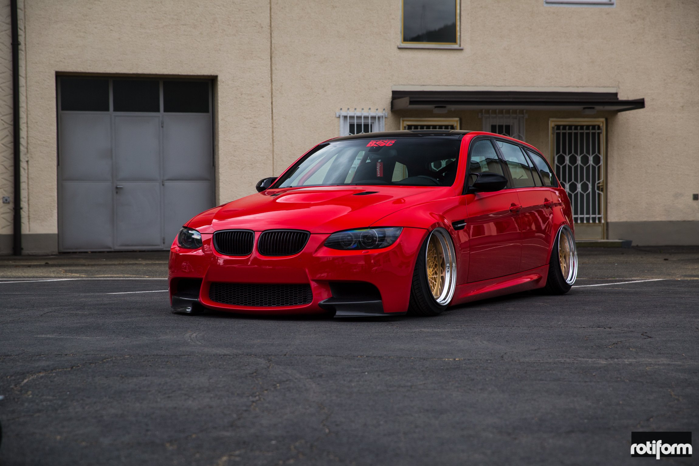 Stanced Out Bmw M3 Touring With Roll Cage And Rotiform Custom Wheels Carid Com Gallery