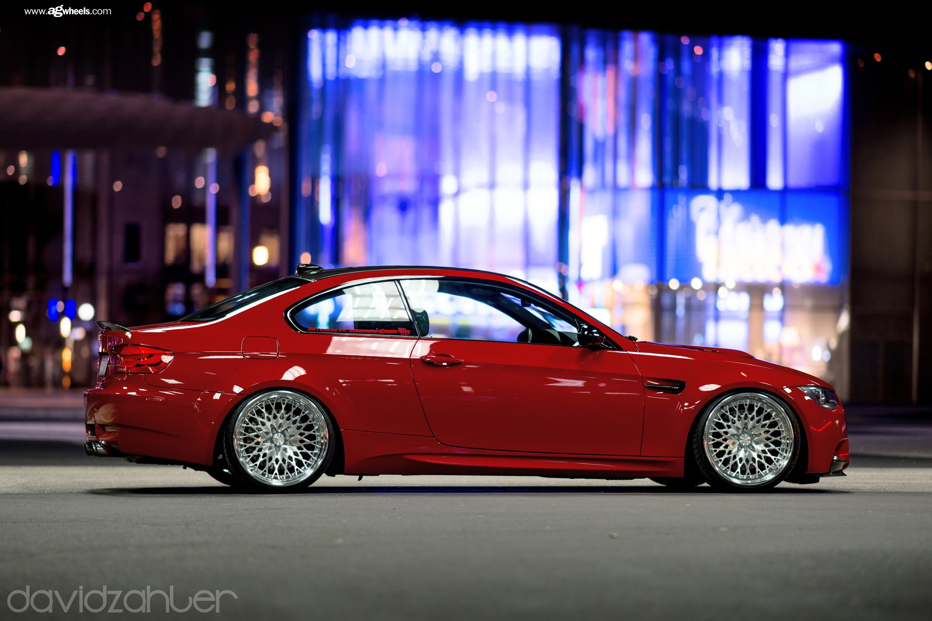 Candy Red Bmw 3 Series On Full Face Custom Wheels Carid Com Gallery