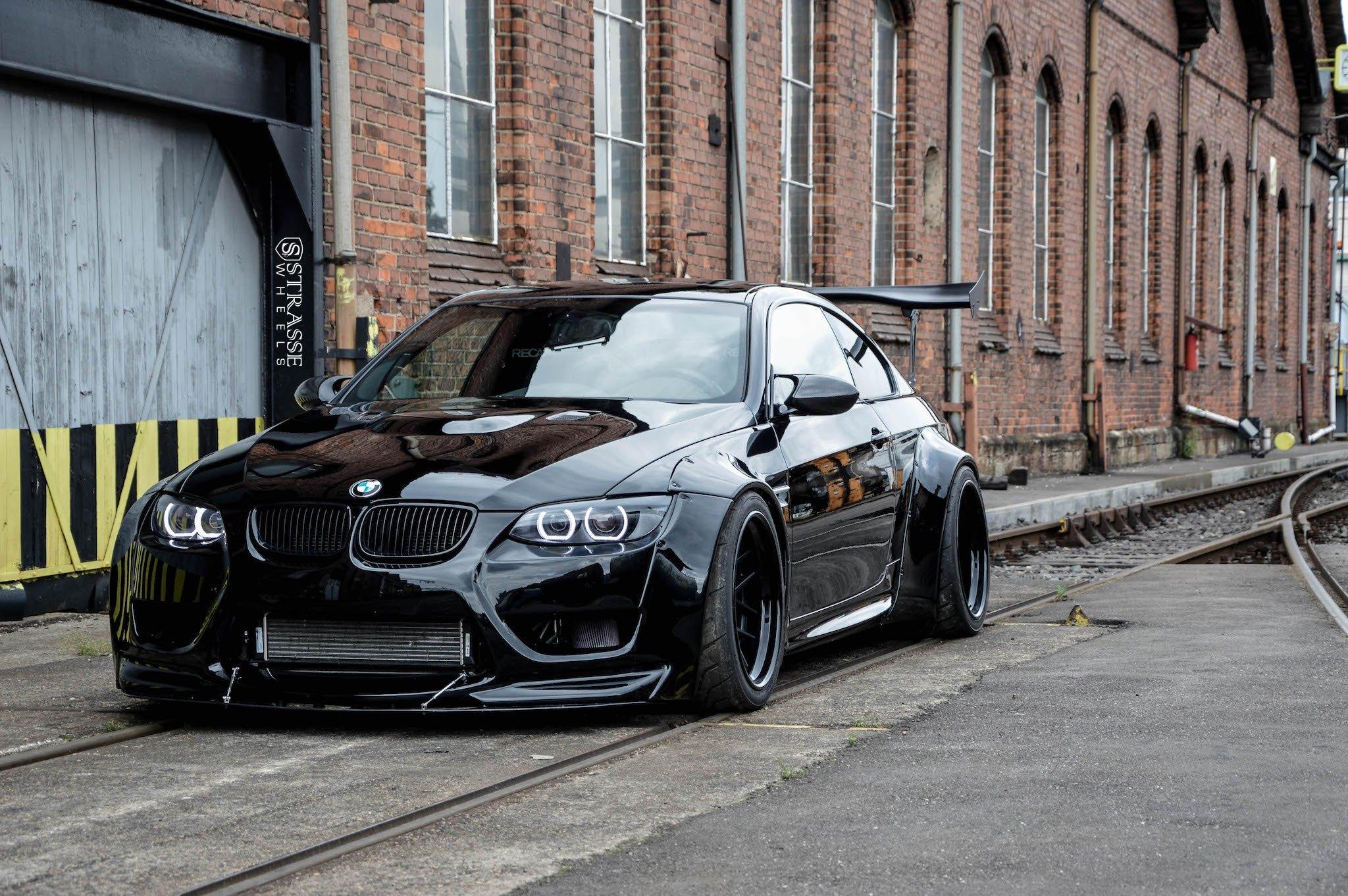 Mean All Black BMW Series Customized In Batman Style CARiD - All black bmw