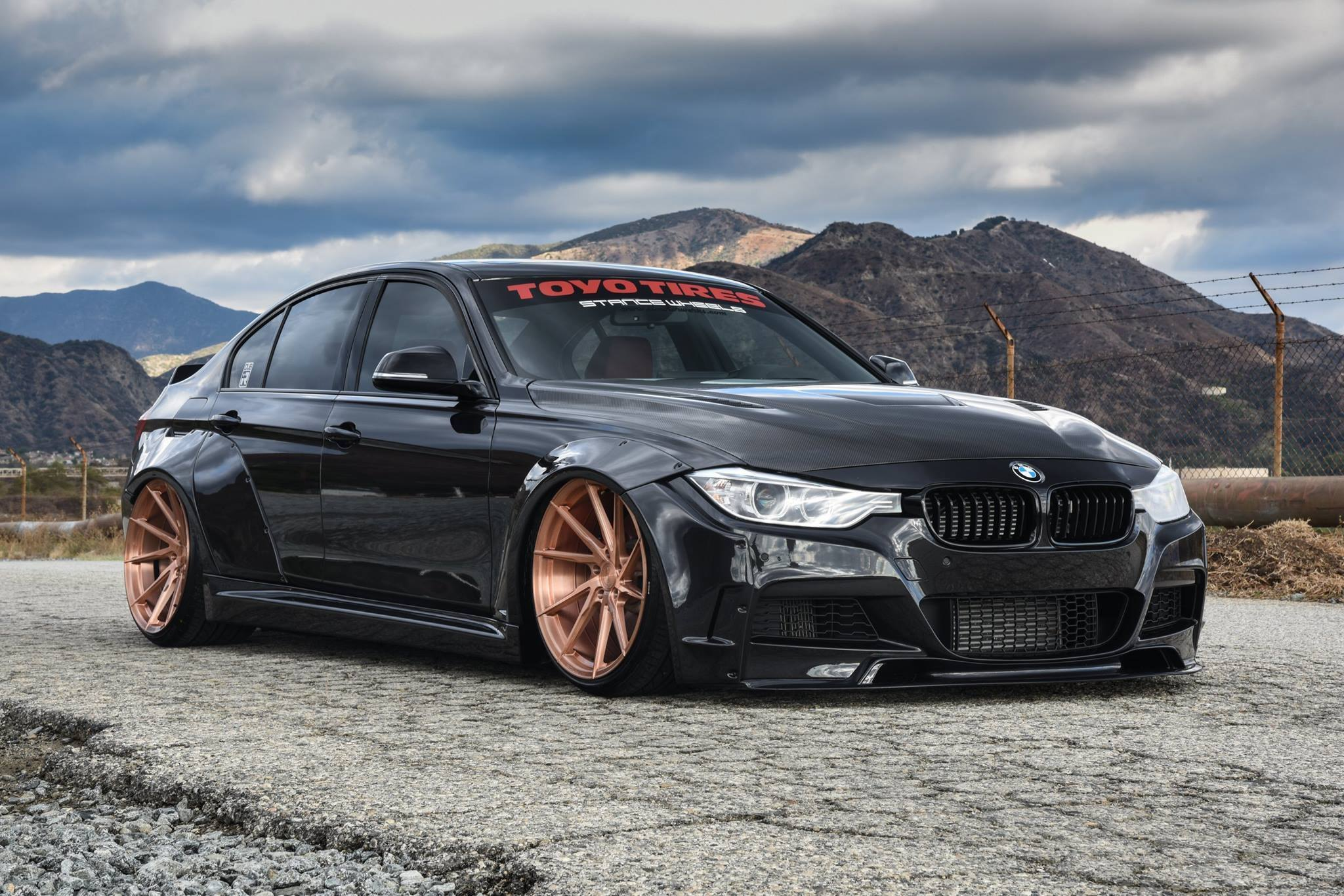 gold is the matter custom black stanced bmw 3 series on gold rims gallery. Black Bedroom Furniture Sets. Home Design Ideas