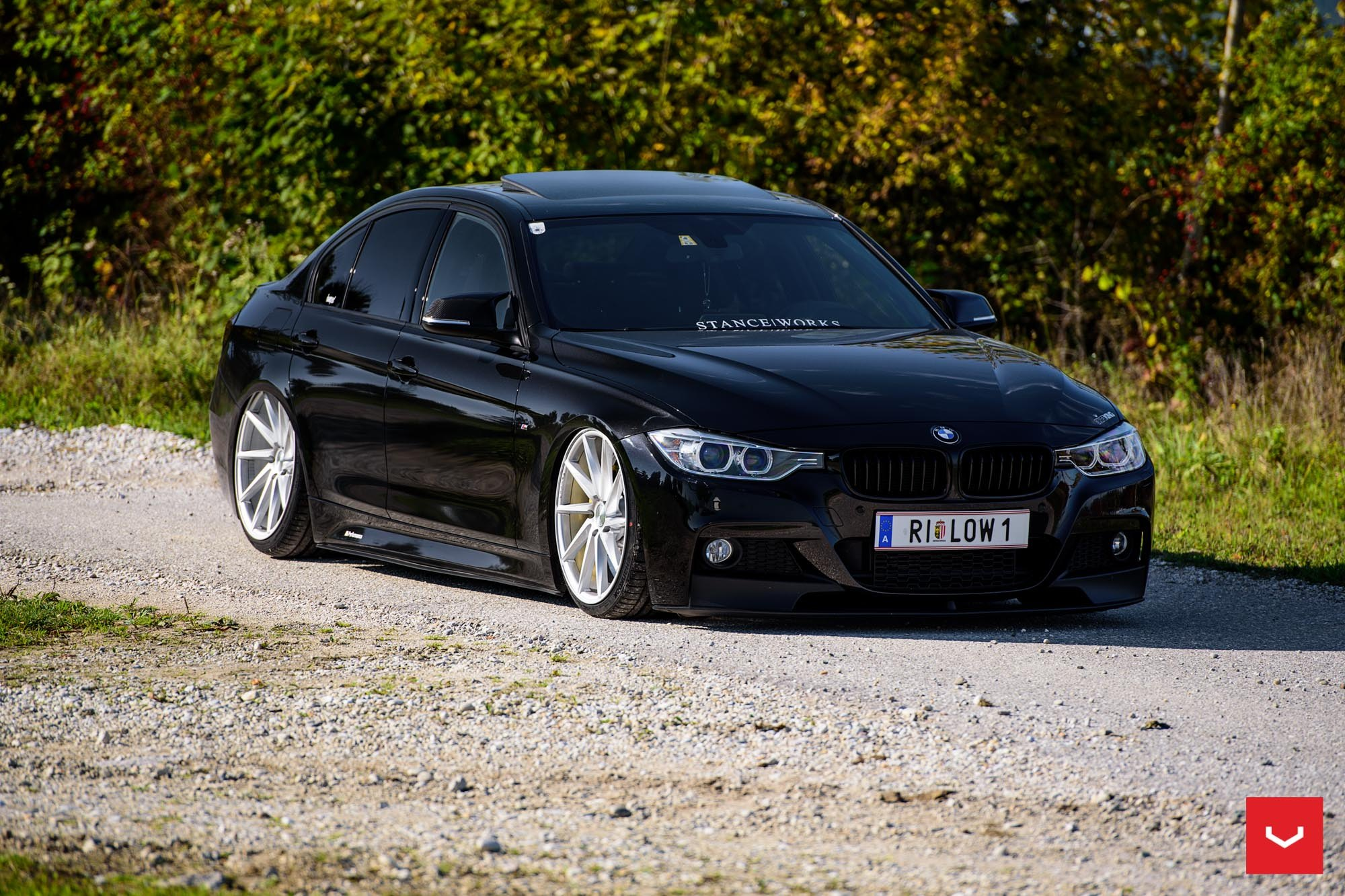 stanced out bmw 3 series on chrome vossen wheels fitted. Black Bedroom Furniture Sets. Home Design Ideas