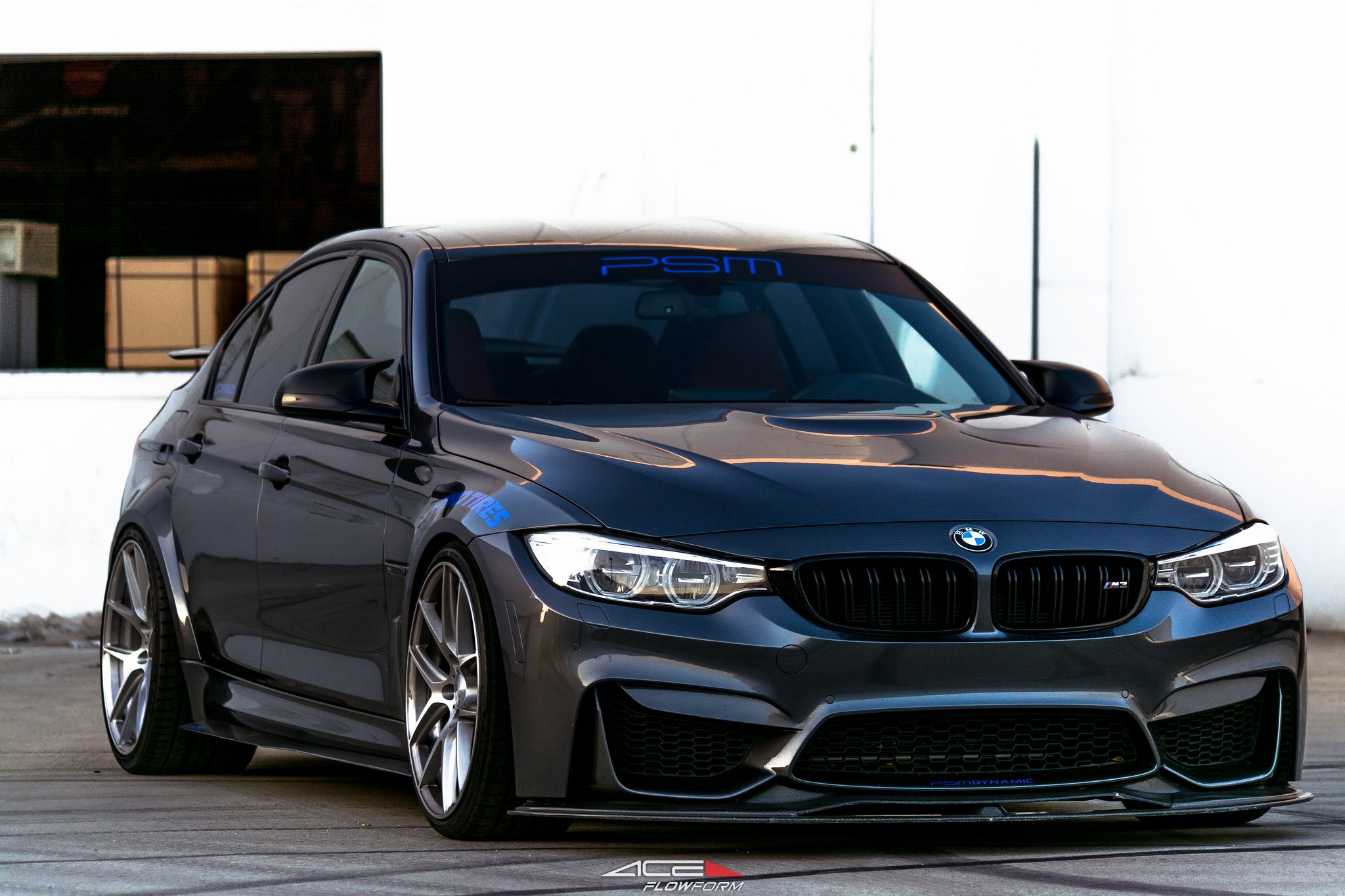 Lowered Bmw M3 Sedan With A Front Bumper Splitter Carid Com Gallery