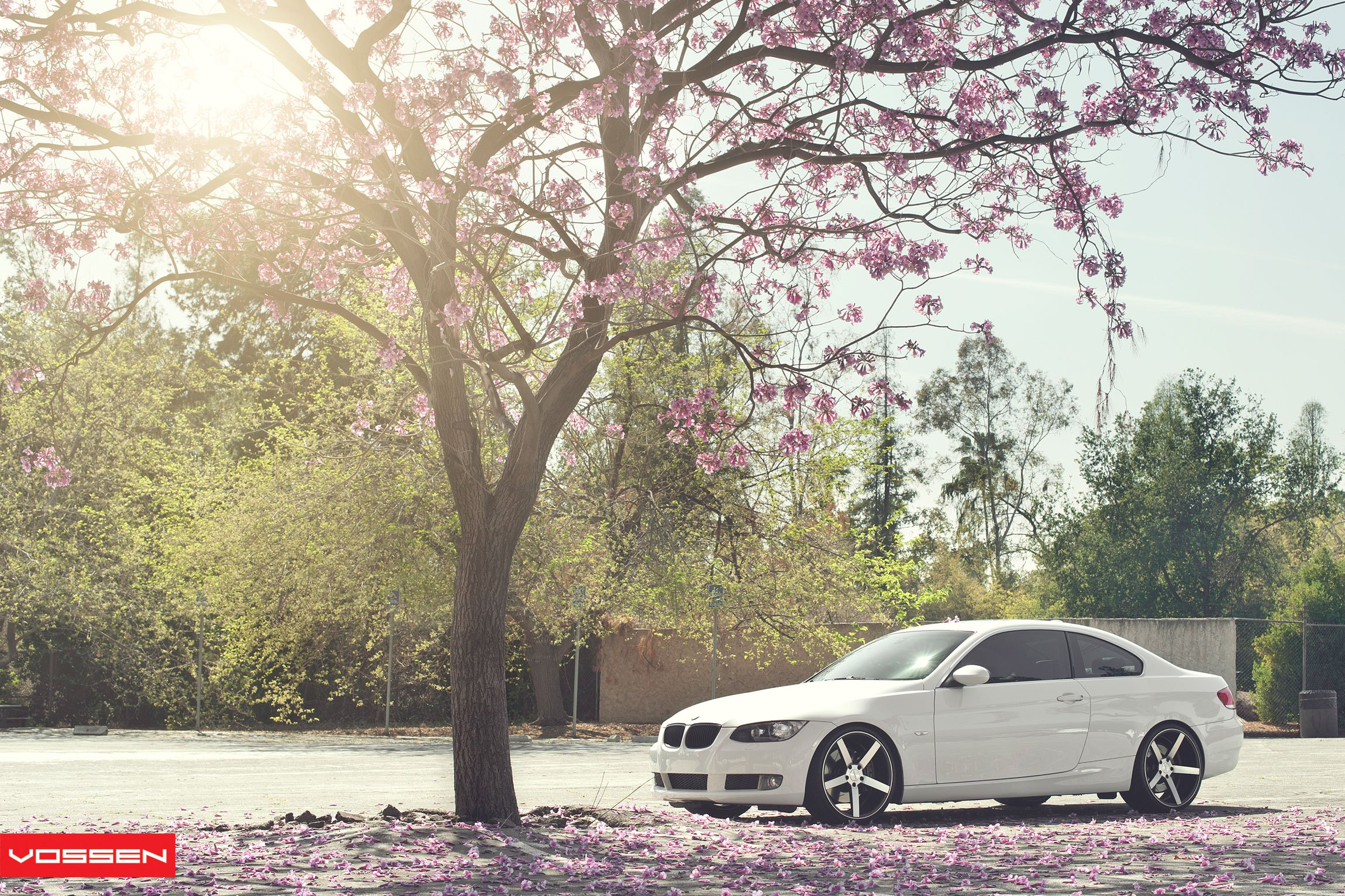 Aftermarket Side Skirts on White BMW 3-Series - Photo by Vossen