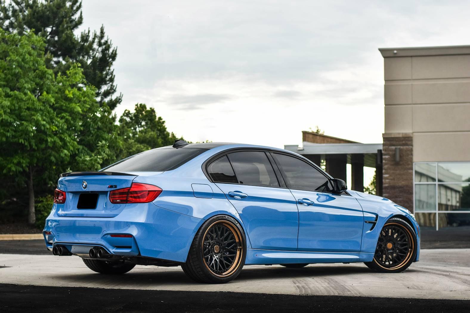 sky blue bmw m3 f30 on avant garde sport wheels carid com gallery