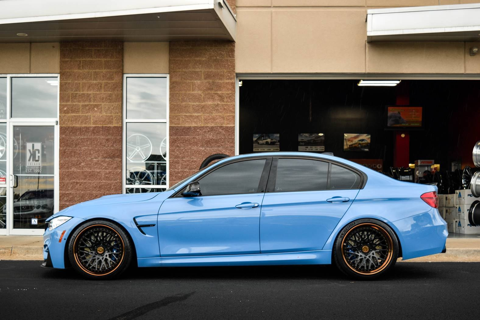 Sky Blue Bmw M3 F30 On Avant Garde Sport Wheels Carid Com Gallery