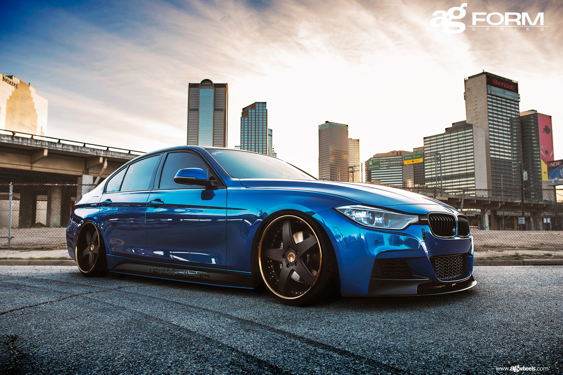 Bright Blue Bmw M3 F30 With A Proper Stance By Avant Garde