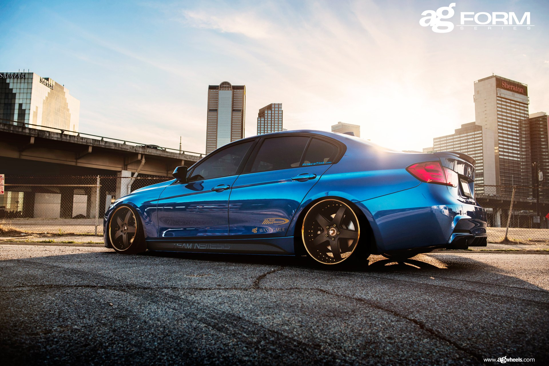 Bright Blue Bmw M3 F30 With A Proper Stance By Avant Garde Carid