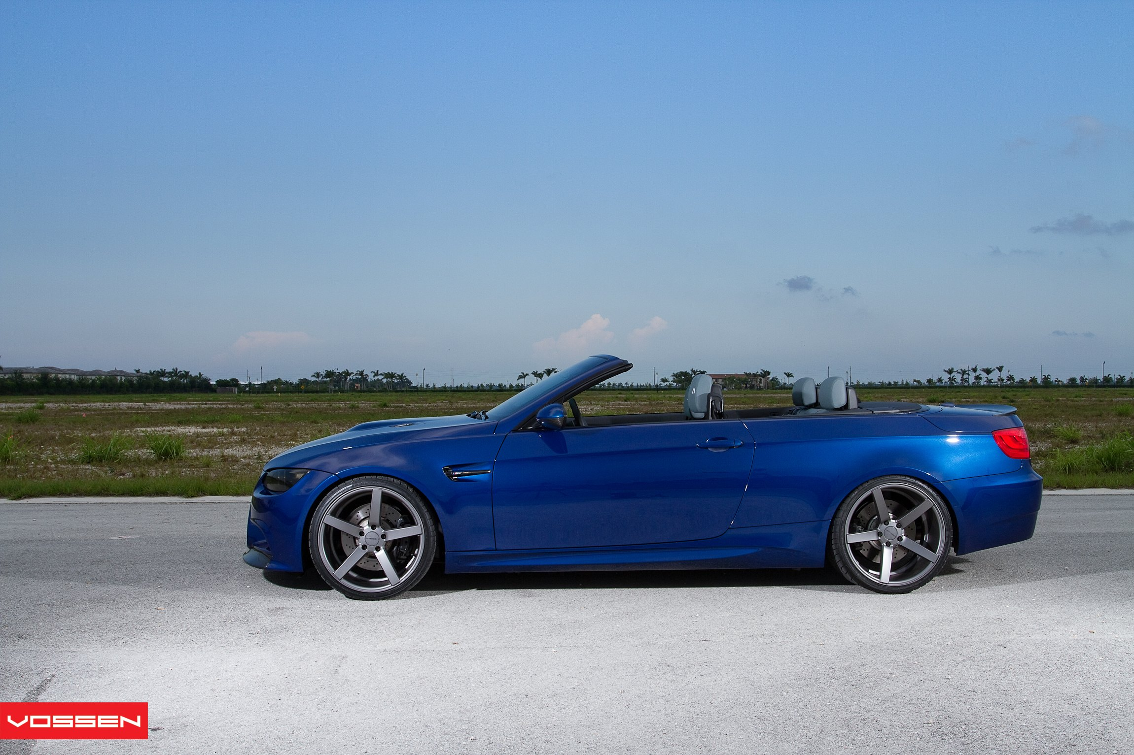 Custom Vossen Wheels on Blue Convertible BMW 3-Series - Photo by Vossen