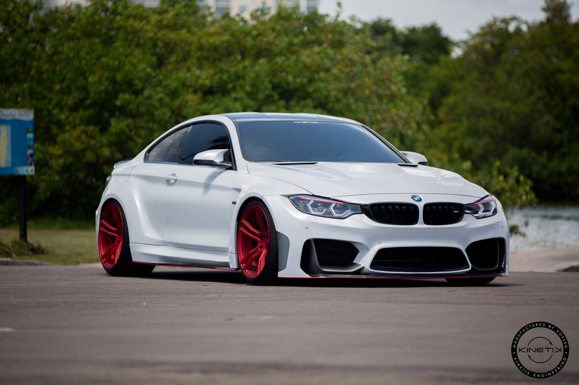 Widebody Bmw 4 Series On Red Forged Wheels Carid Com Gallery