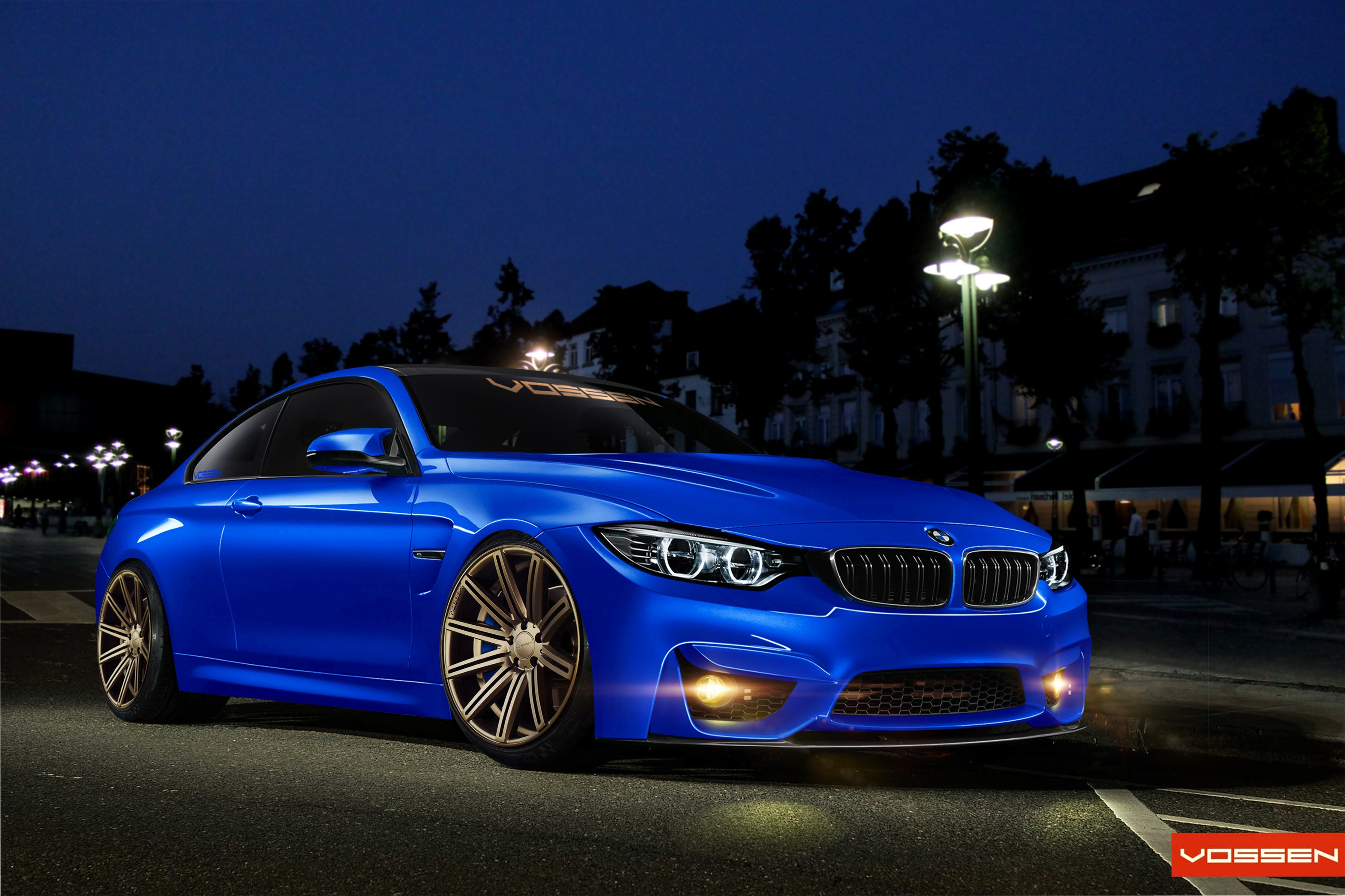 Blue Bmw 4 Series With Custom Front Per Photo By Vossen