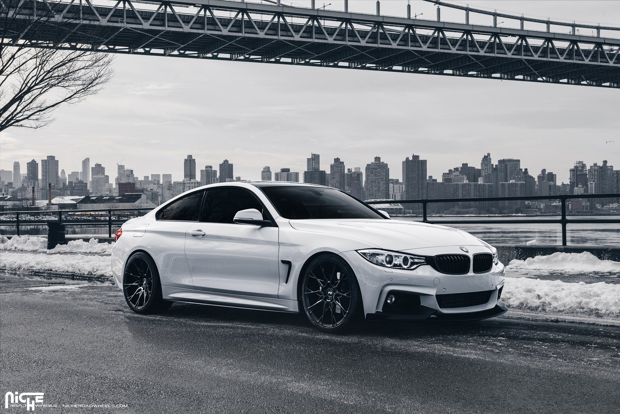 Freezing White Bmw M4 Coupe Fitted With Niche Custom Wheels