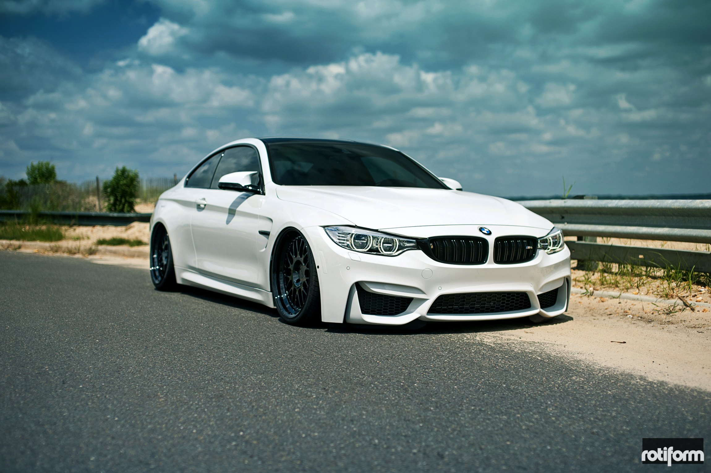 Sleek White Bmw M4 Coupe With Subtle Custom Touches And Black Rotiform Rims Carid Com Gallery