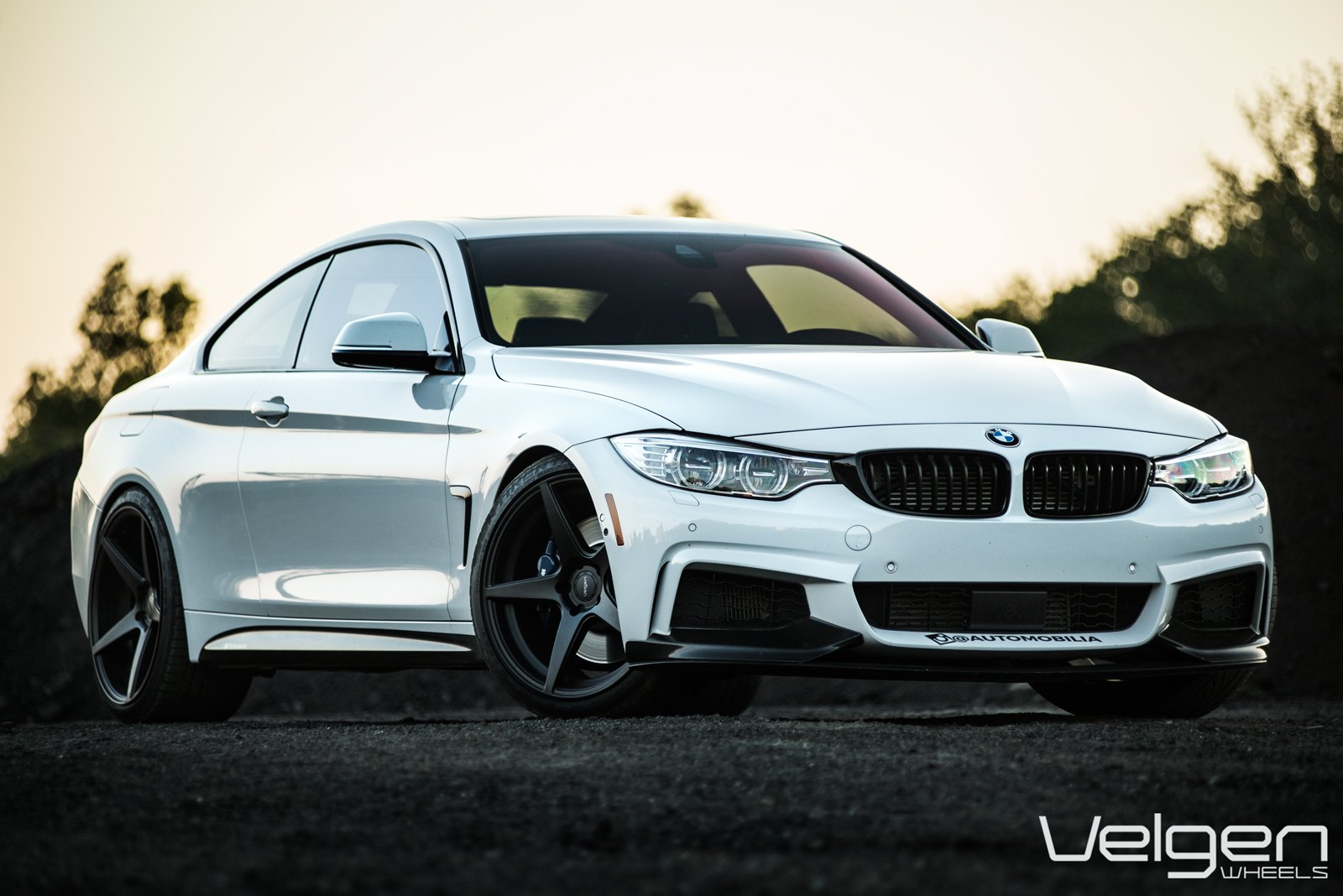 Enhanced Gloss White Bmw M4 Coupe With Black Aftermarket Rims Carid Com Gallery