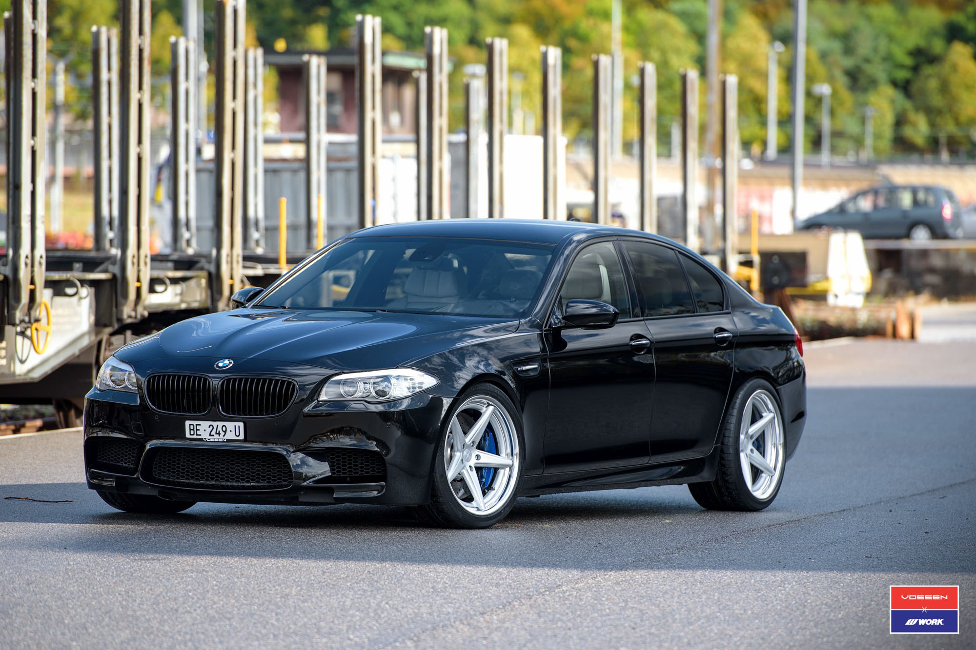 90c3ab7b626 Gloss Black BMW 5-Series with Custom Grille - Photo by Vossen