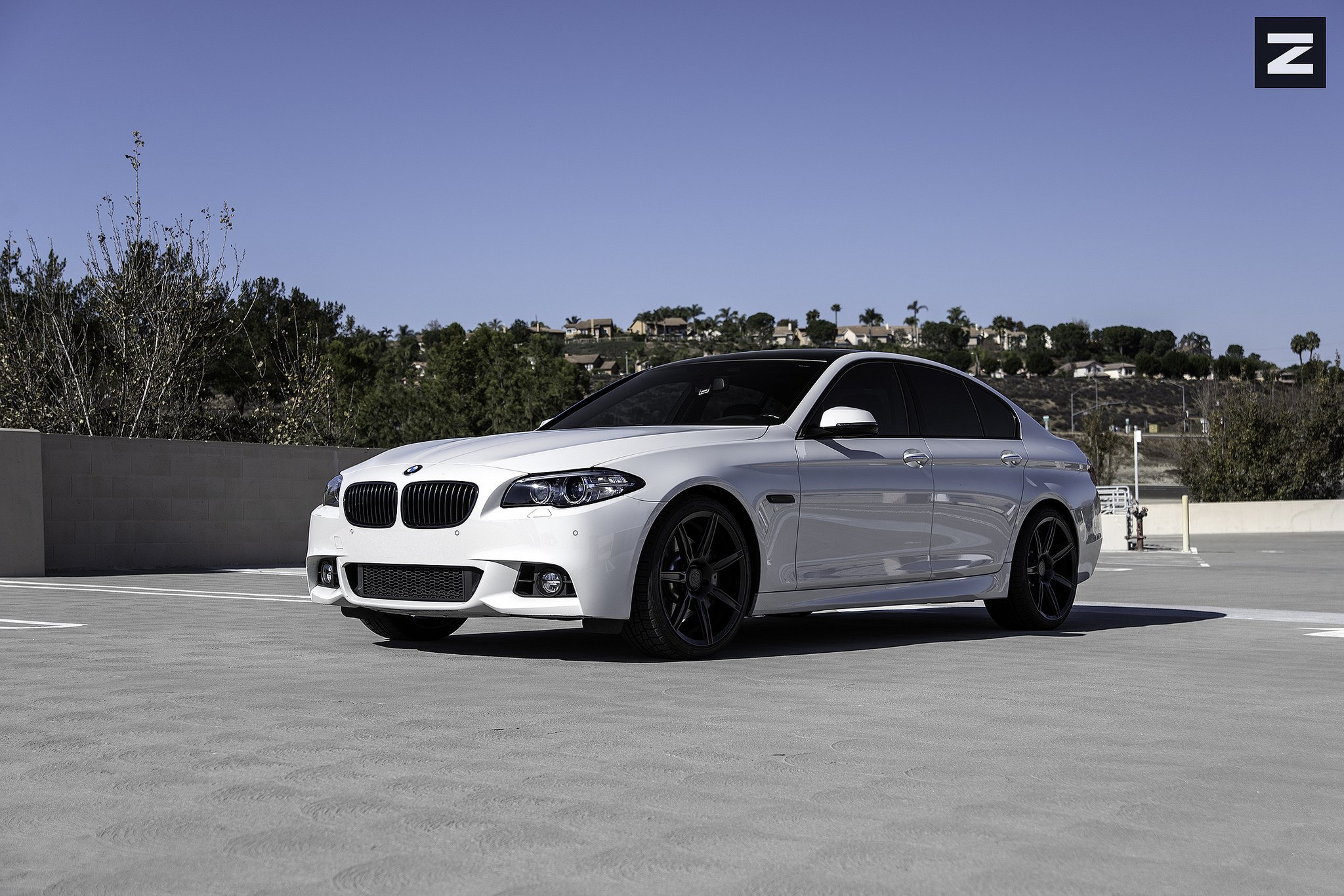 Starke Contrast White Bmw 5 Series On Black Custom Rims