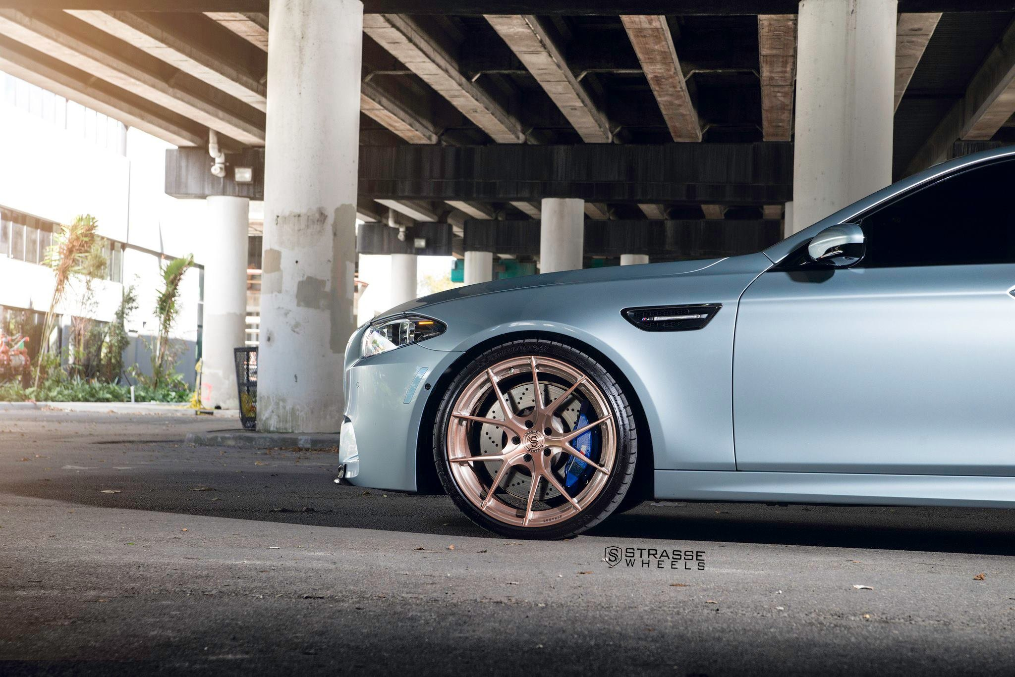 Rose Gold Standard Srasse Wheels Beautify Gray Bmw 5 Series Carid