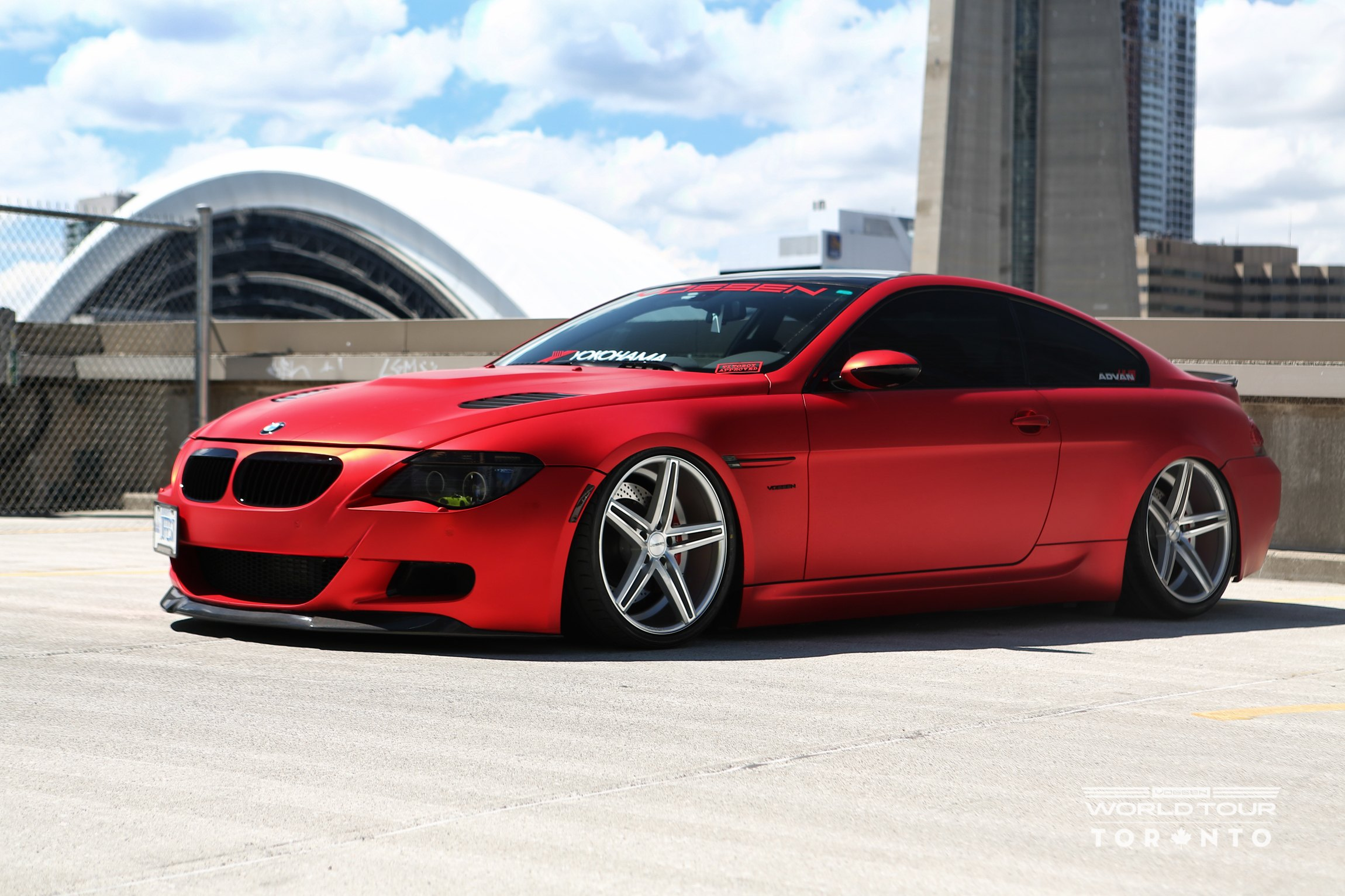 Red matte eye candy bmw 6 series gets custom body kit carid red matte bmw 6 series with custom body kit photo by vossen publicscrutiny Images