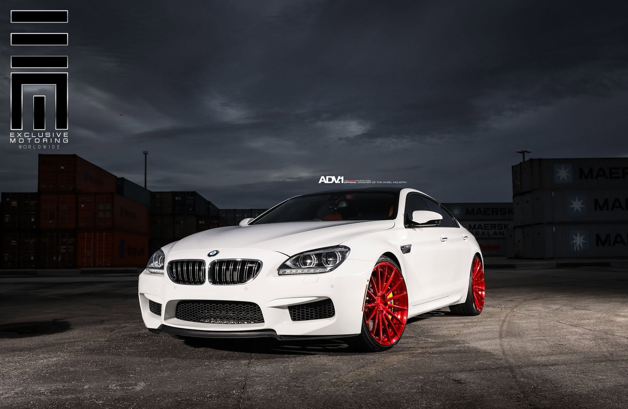 Outside The Box White Bmw M6 Gran Coupe With Red Custom Rims Carid Com Gallery