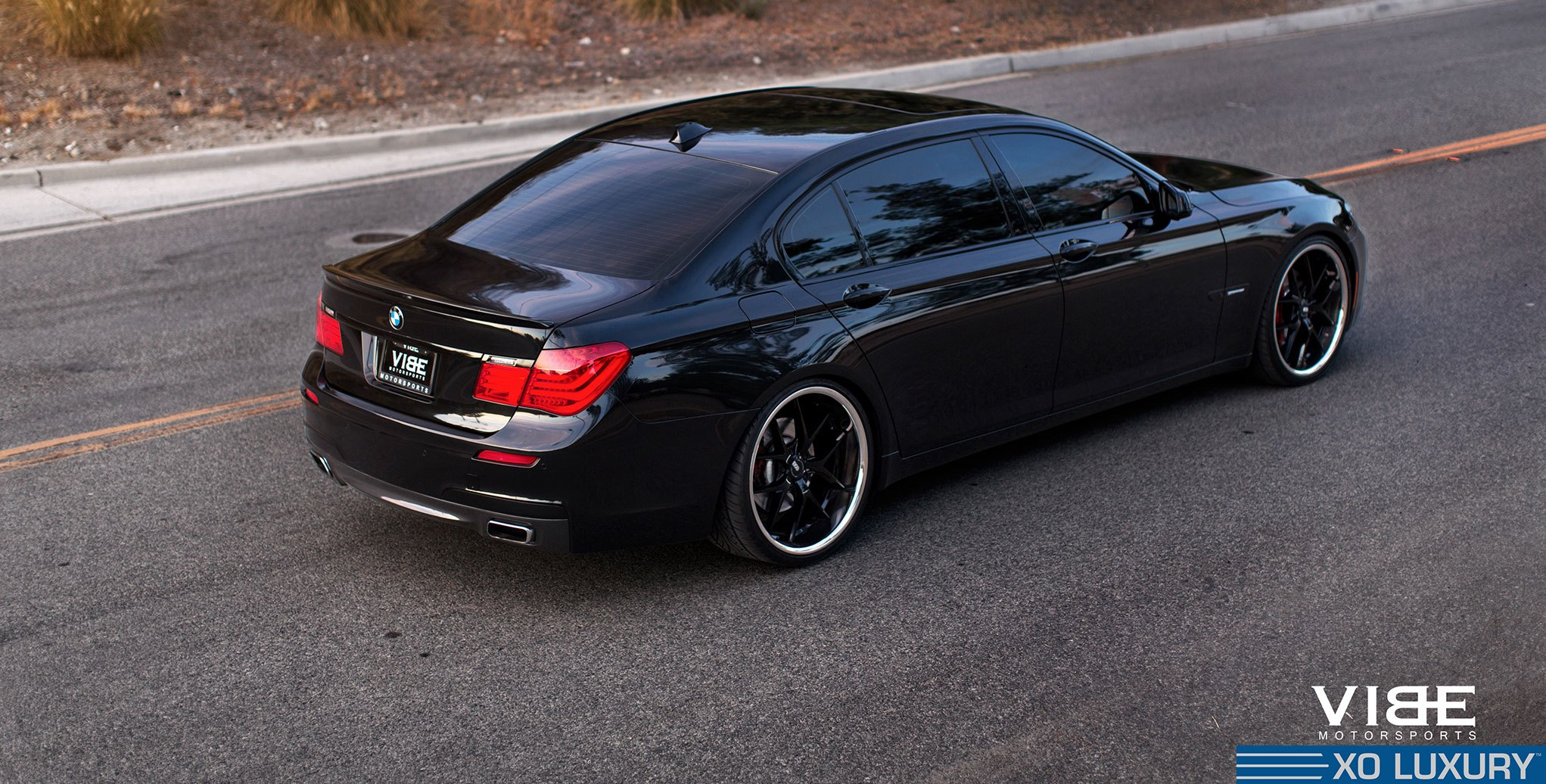 A Touch Of Luxury Blacked Out Bmw 7 Series With Aftermarket Parts