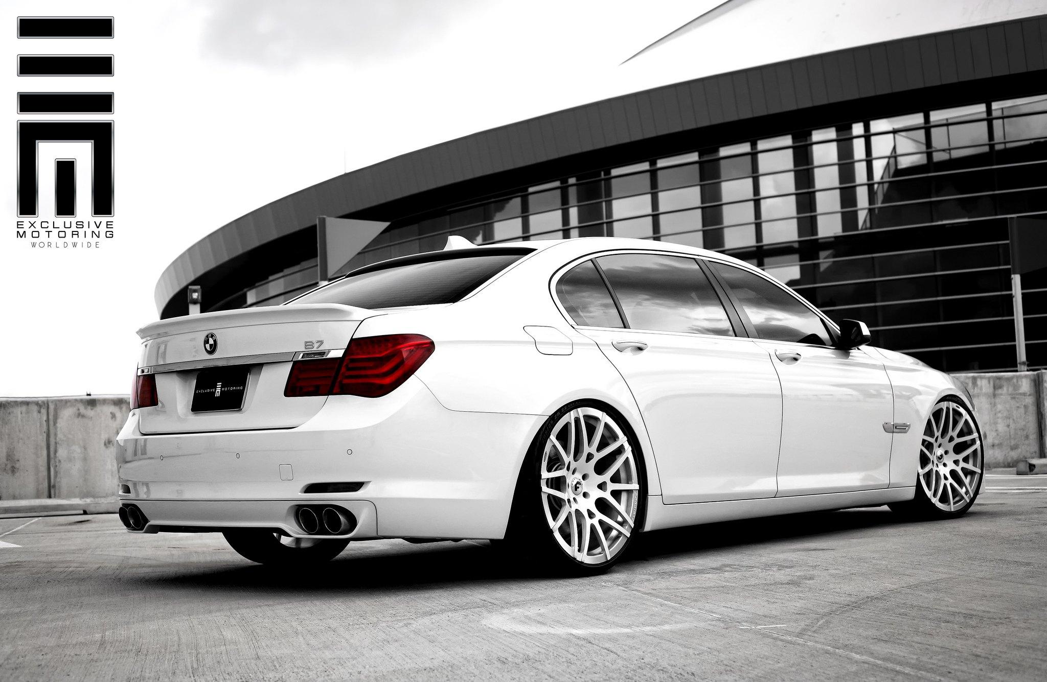 Mineral White BMW Alpina B7 On Custom Rims