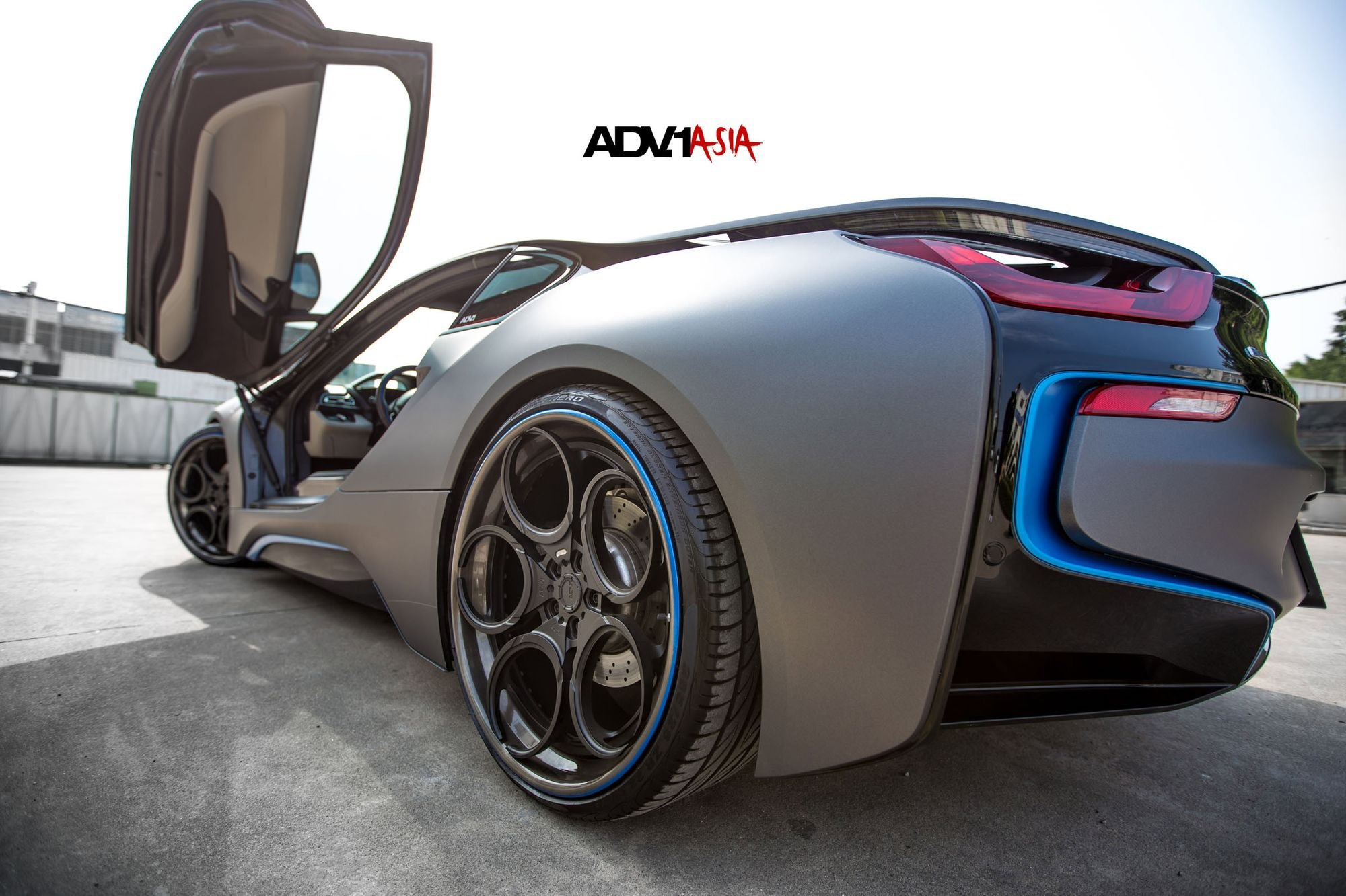 Vertical Doors To The Future Hybrid Bmw I8 With Custom Wheels