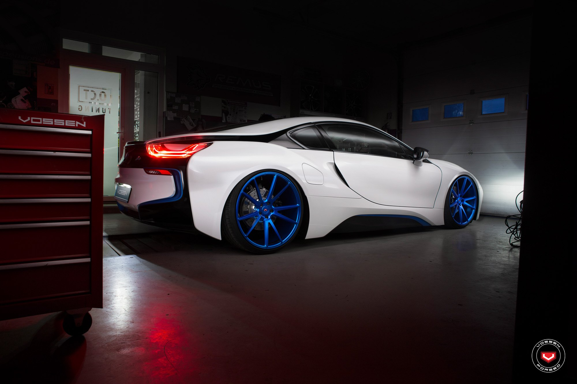 Hybrid Bmw I8 On Beautiful Vossen Custom Wheels Carid Com Gallery