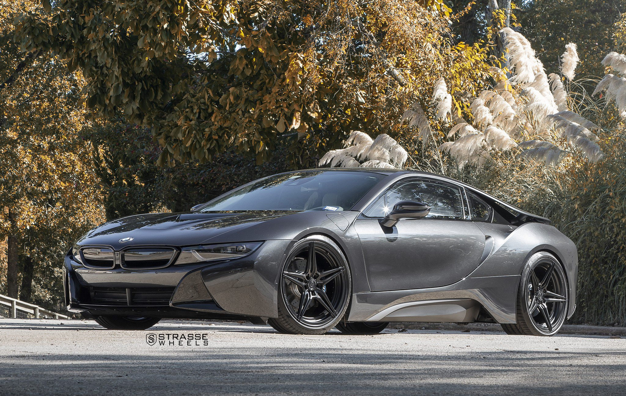 Custom Parts Add Aggressiveness To Black Bmw I8 Carid Com Gallery