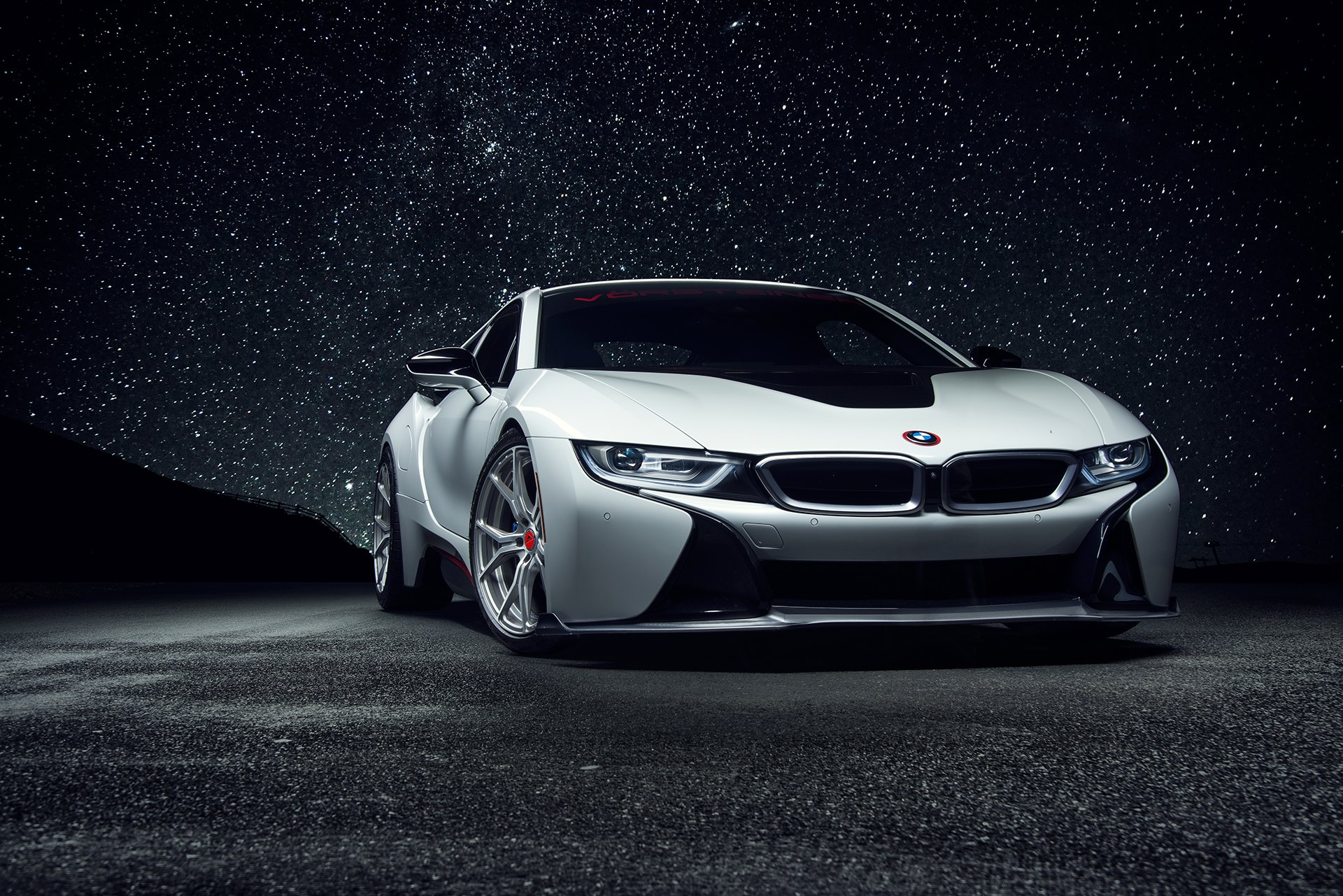 White Bmw I8 Gains Futuristic Look Even More With Custom Parts