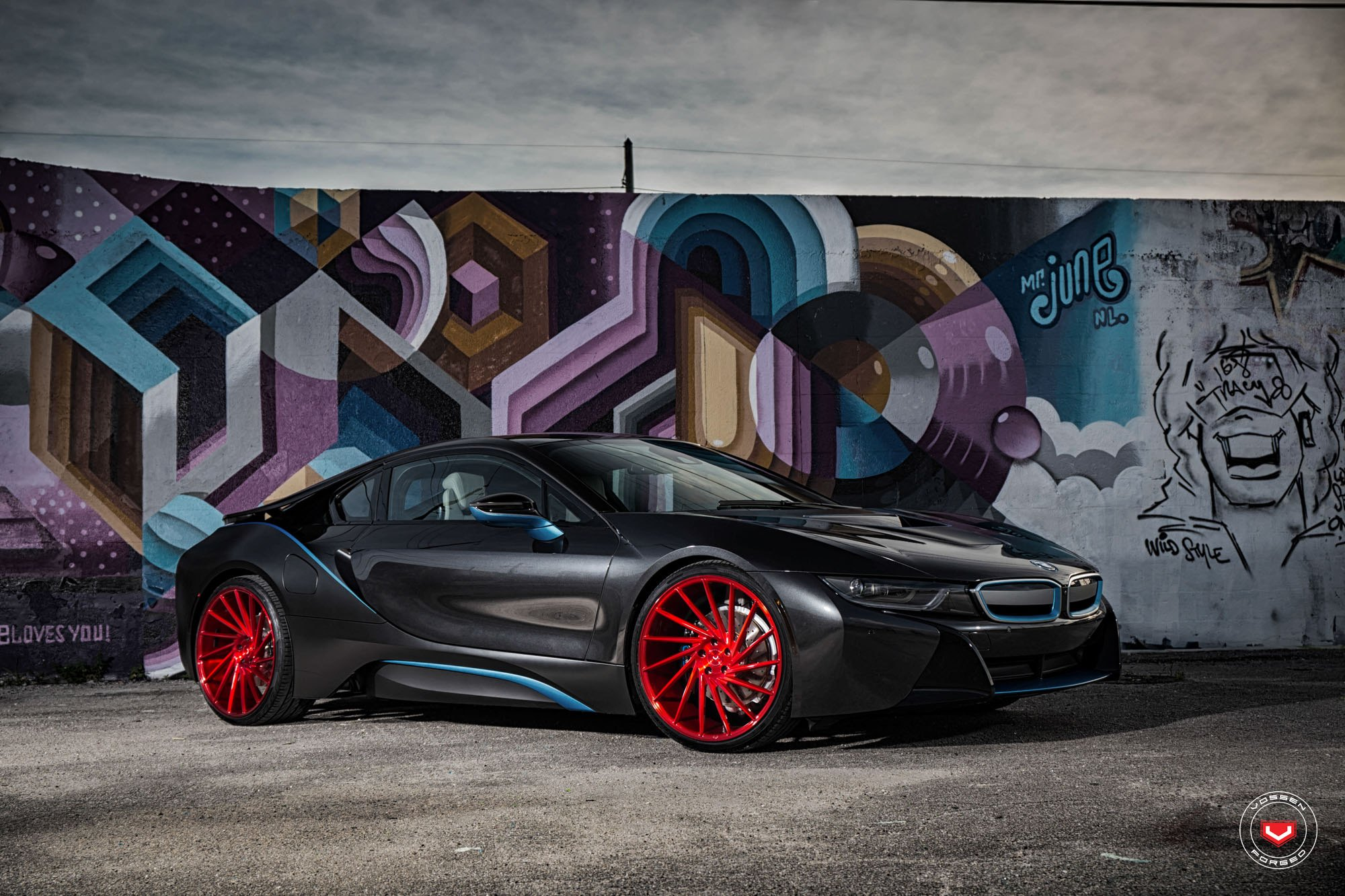 Red Vossen Vps304 On Lowered Bmw I8 Carid Com Gallery