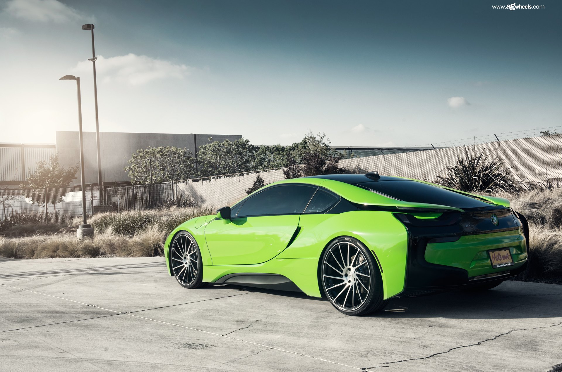 Lime Green Hybrid Bmw I8 On Avant Garde Custom Wheels Carid Com