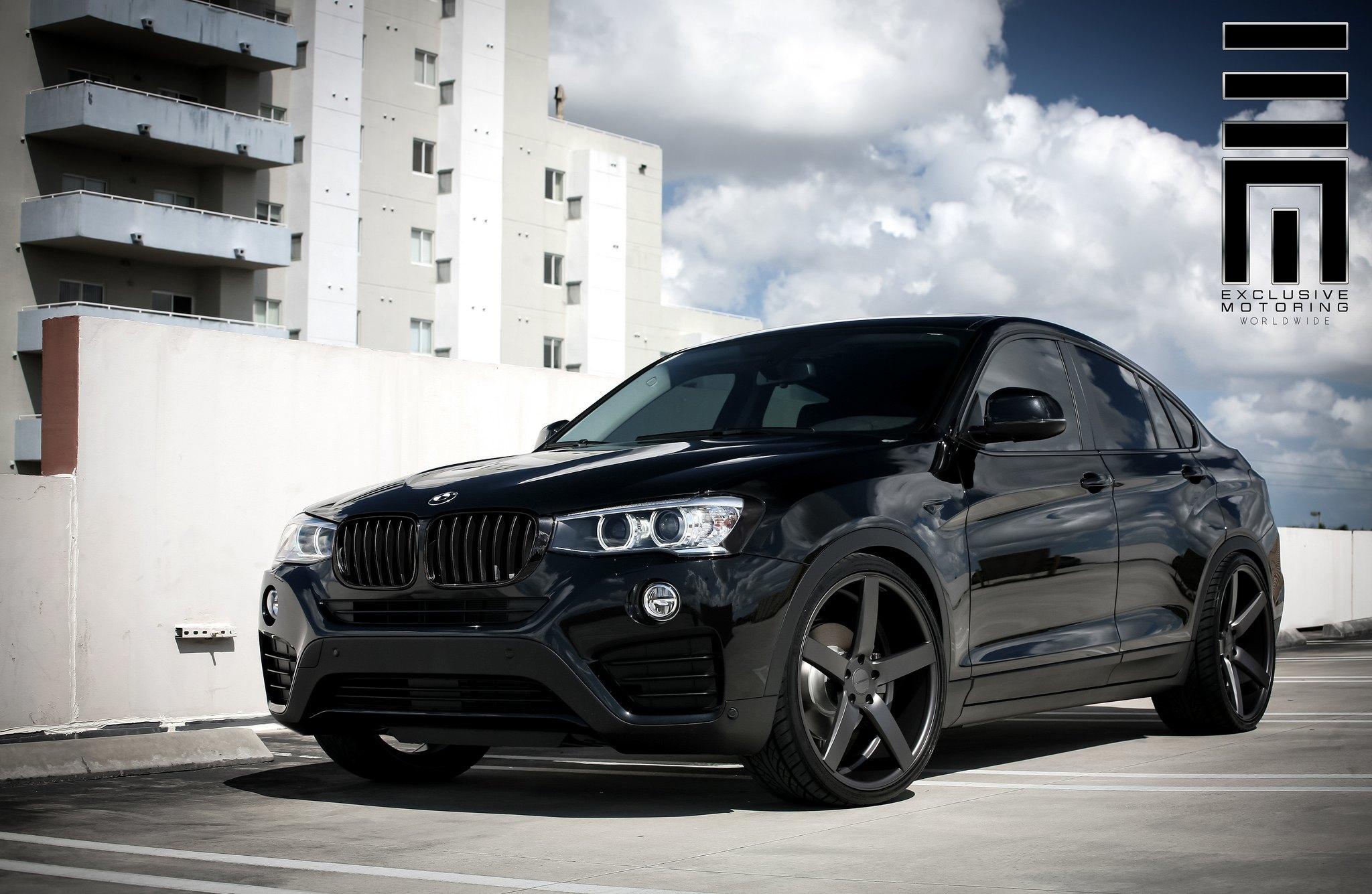 All Black BMW X On Custom Wheels CARiDcom Gallery - All black bmw