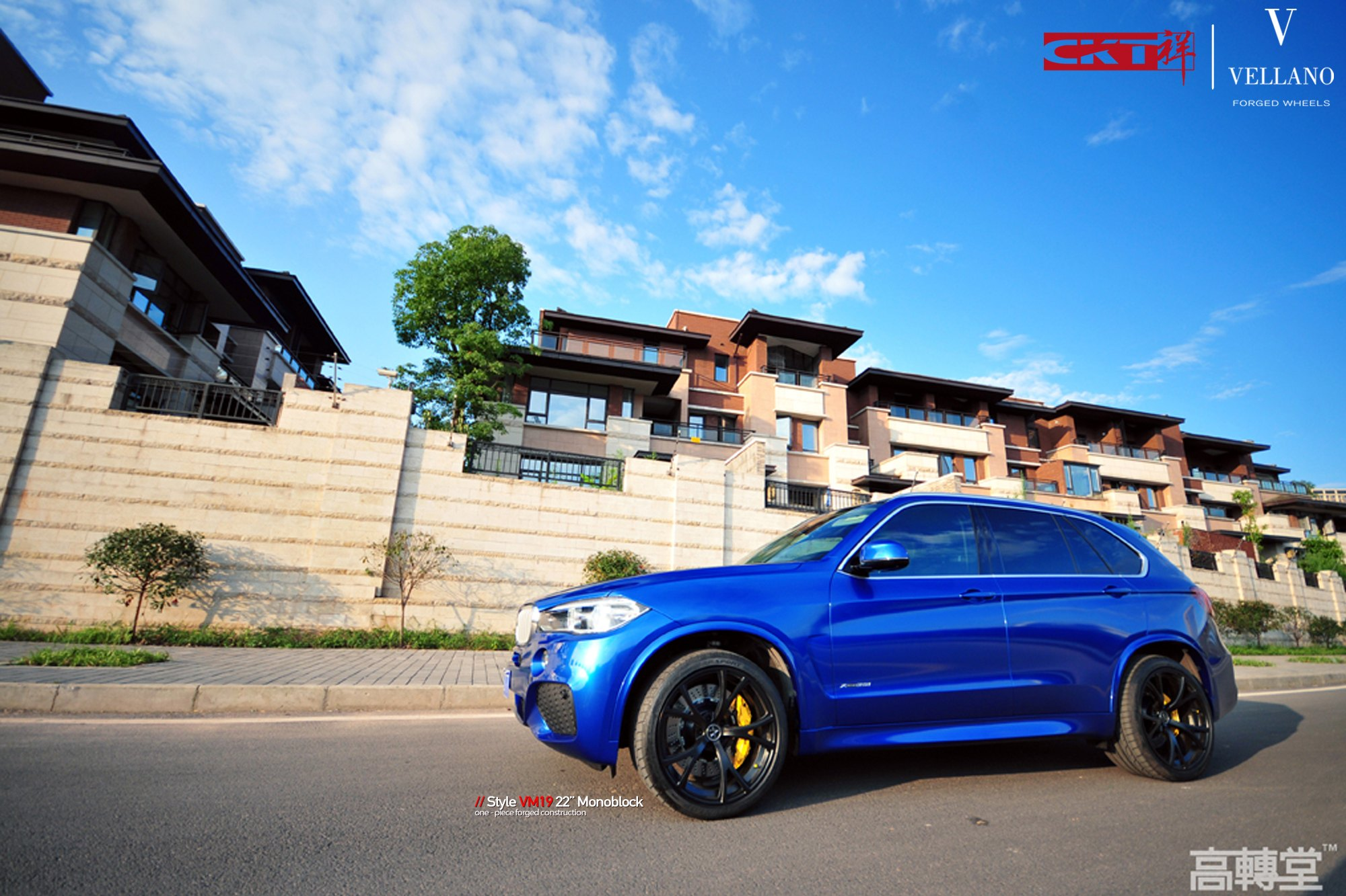 Blue Bmw X5 With Aftermarket Side Skirts Photo By Vellano
