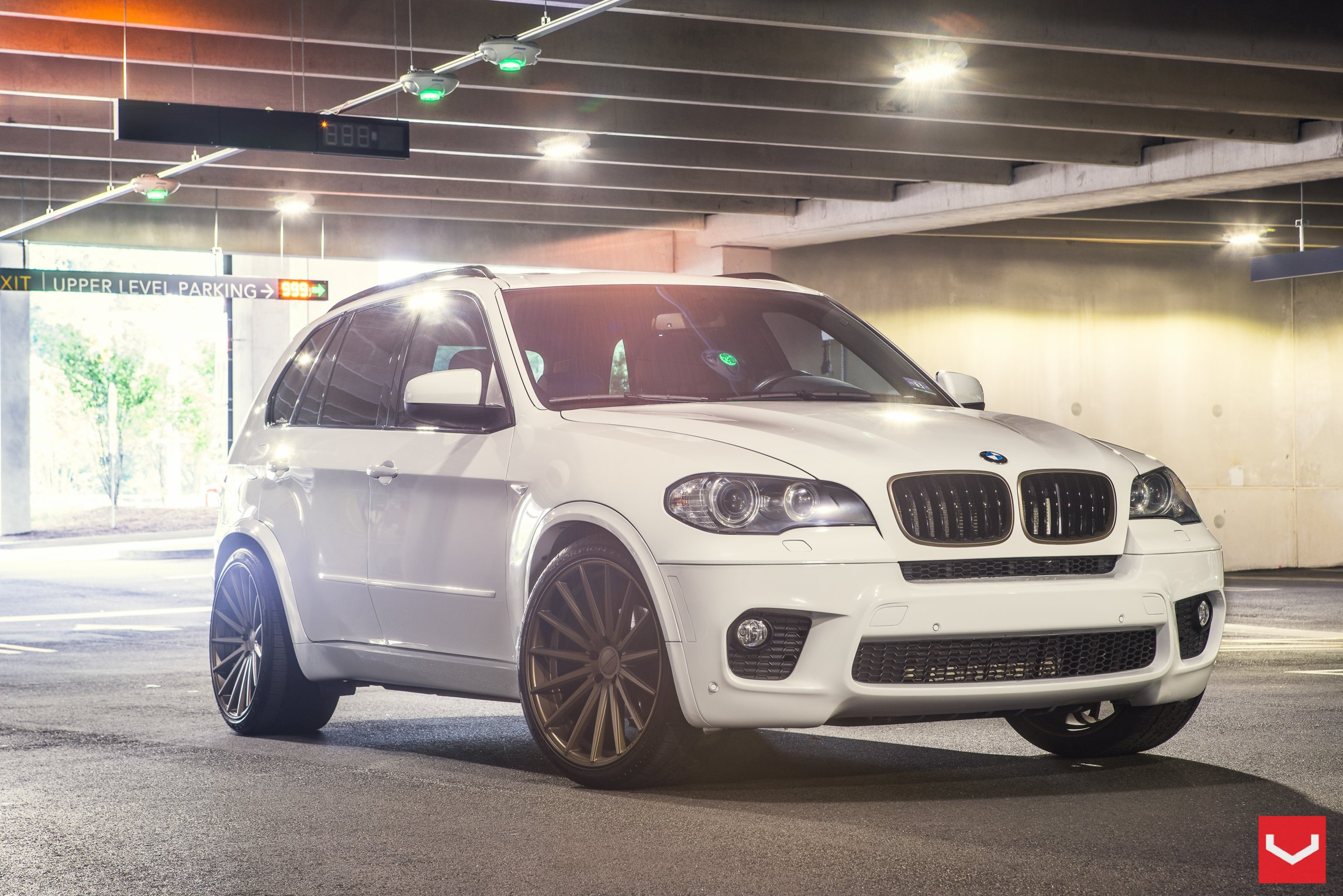 White Bmw X5 Featuring Boosted Lighting And Custom Wheels Carid Com Gallery