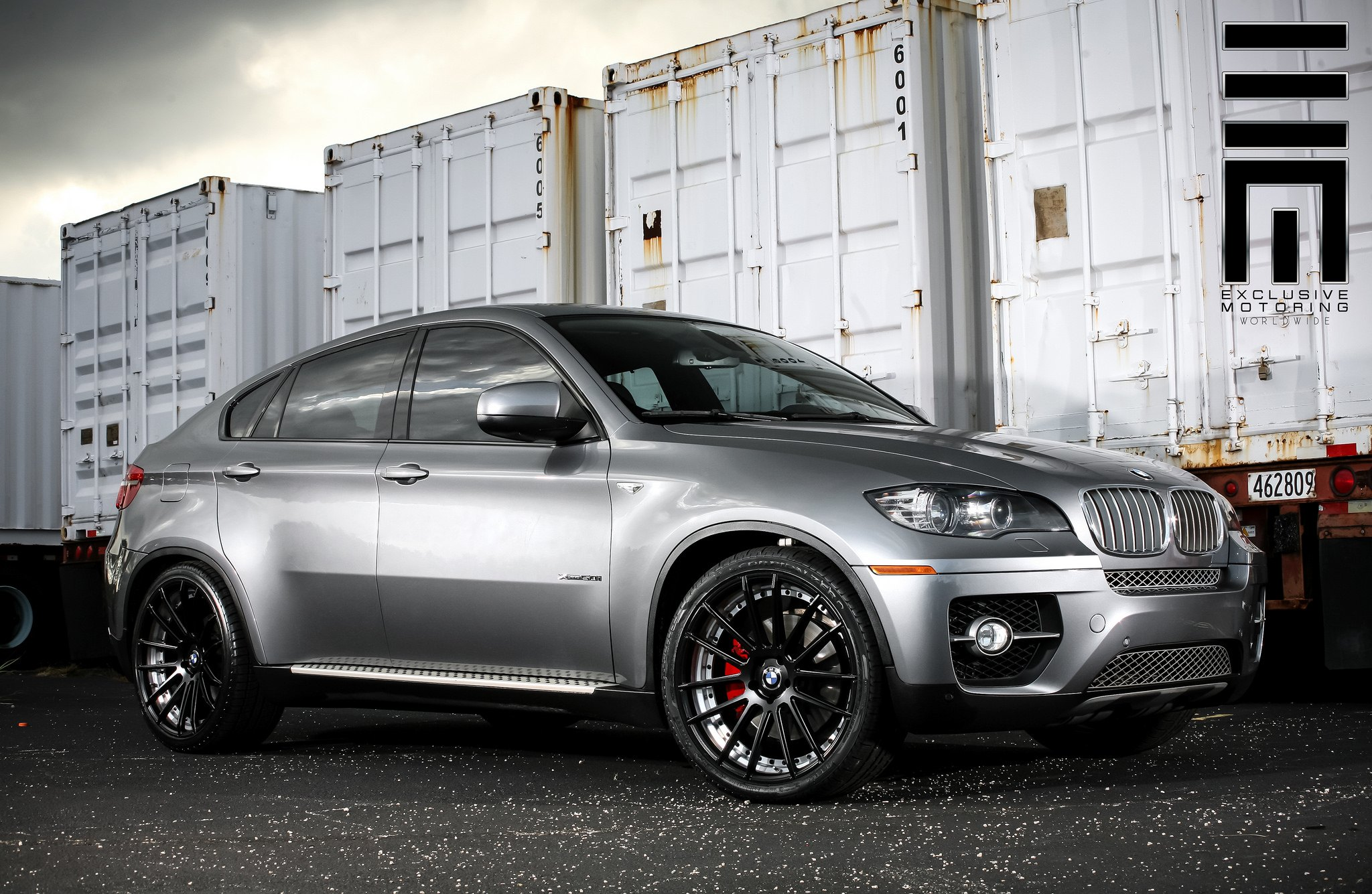 Metallic Gray Bmw X6 On Black Wheels By Exclusive Motoring