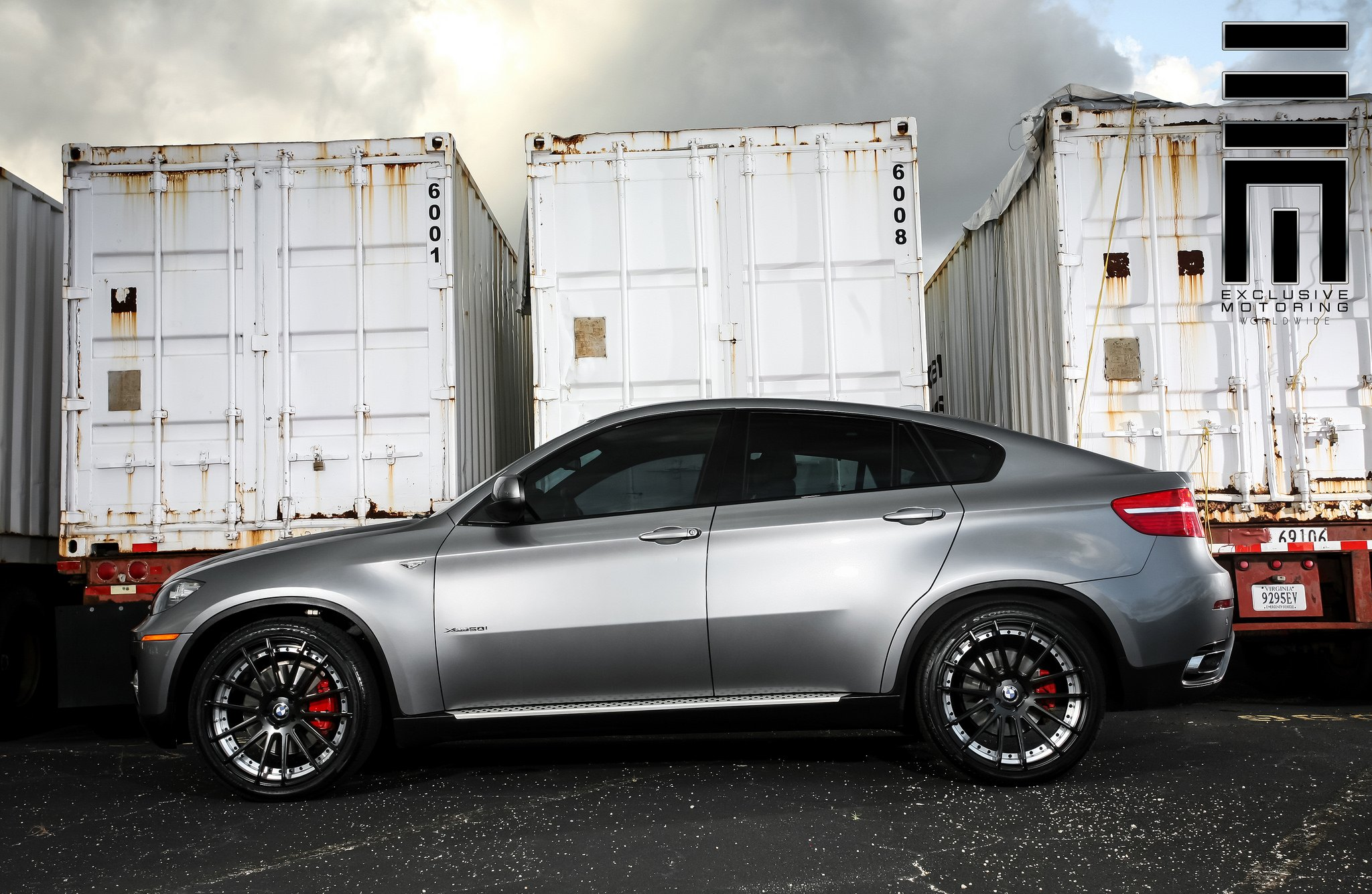 Metallic Gray Bmw X6 On Black Wheels By Exclusive Motoring Carid