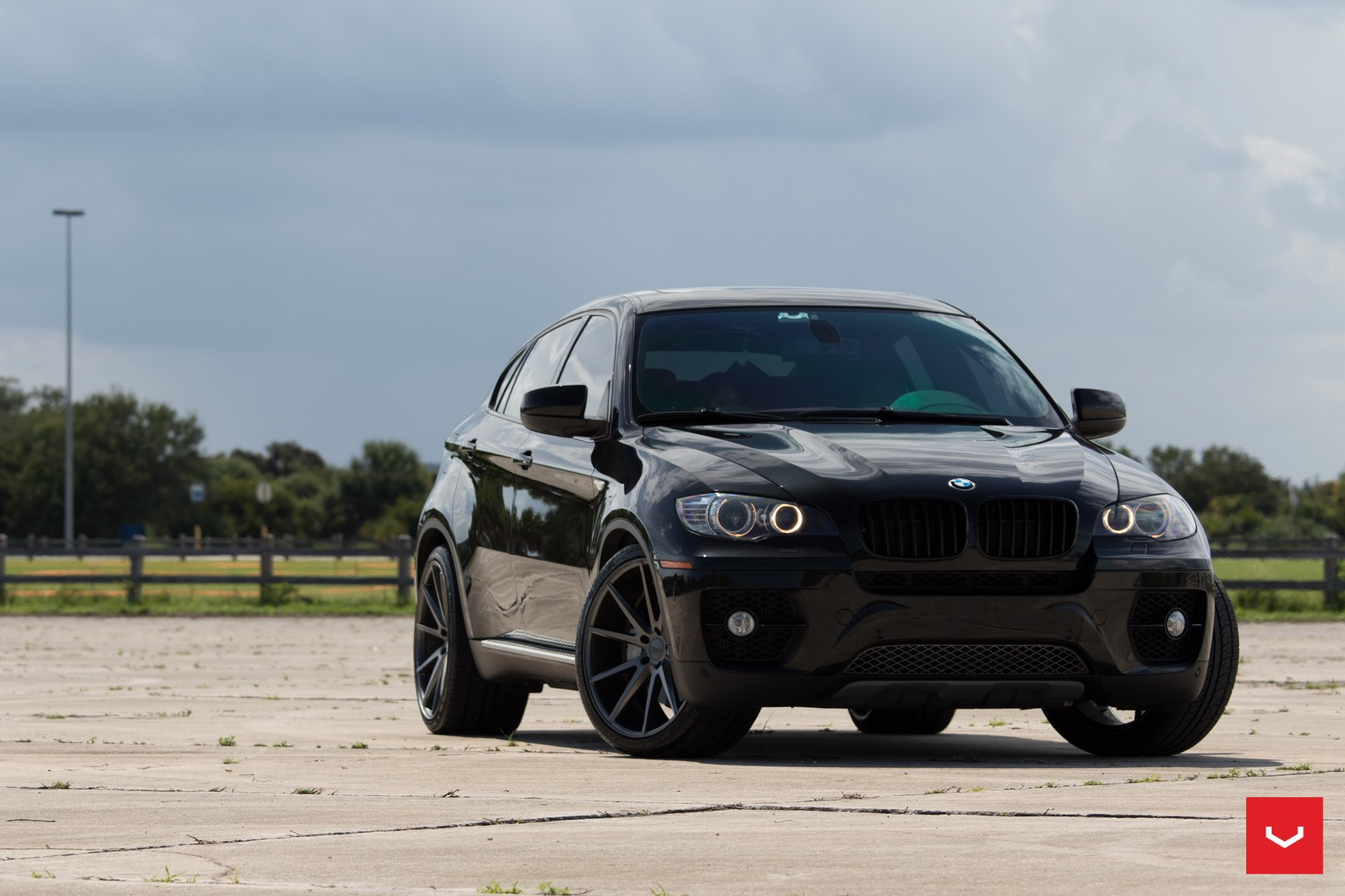 Vps 301 Custom Wheels By Vossen On A Black Bmw X6 Carid