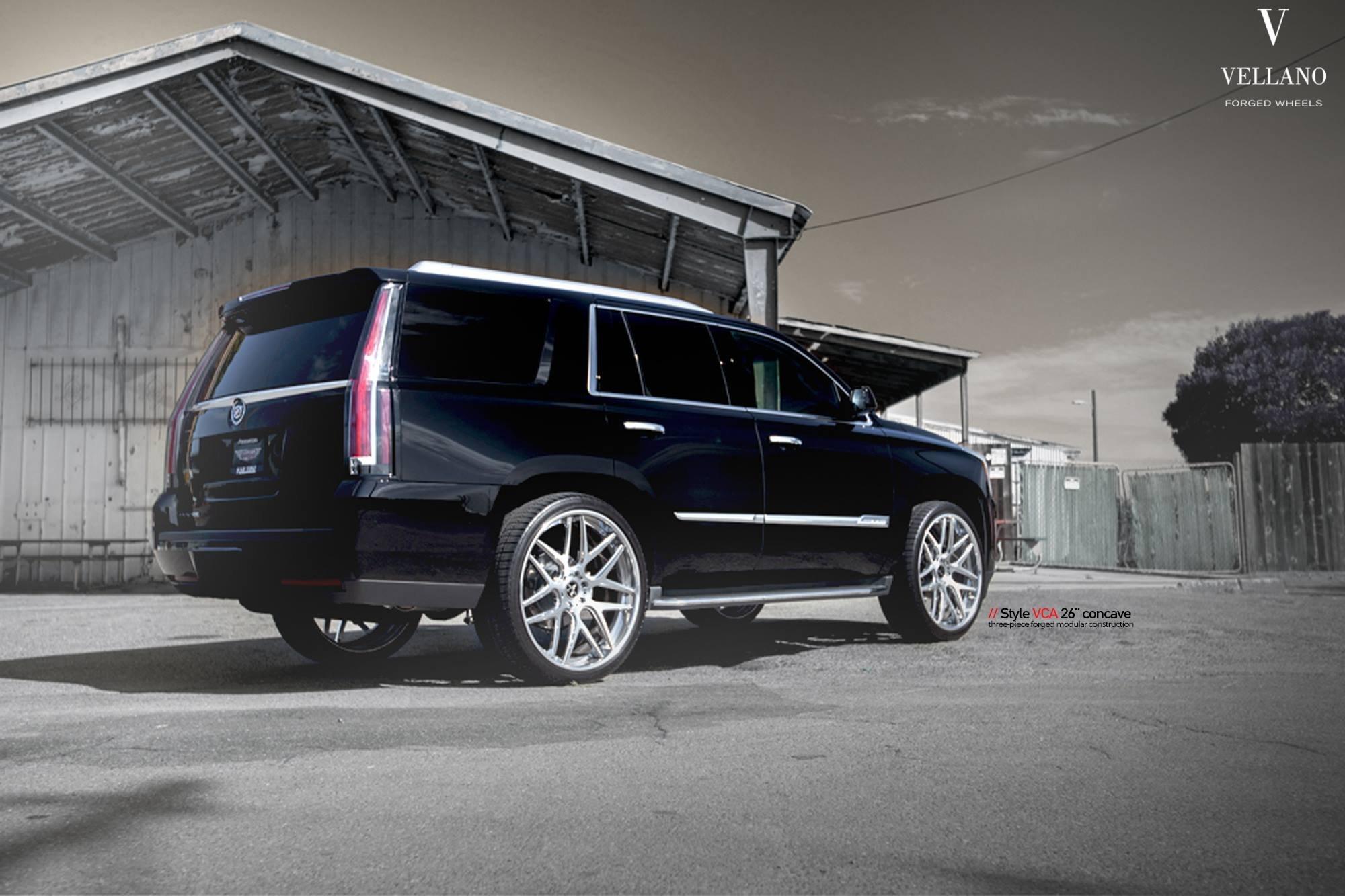Ultimate SUV: Black Cadillac Escalade Put on 26 Inch Vellano Wheels