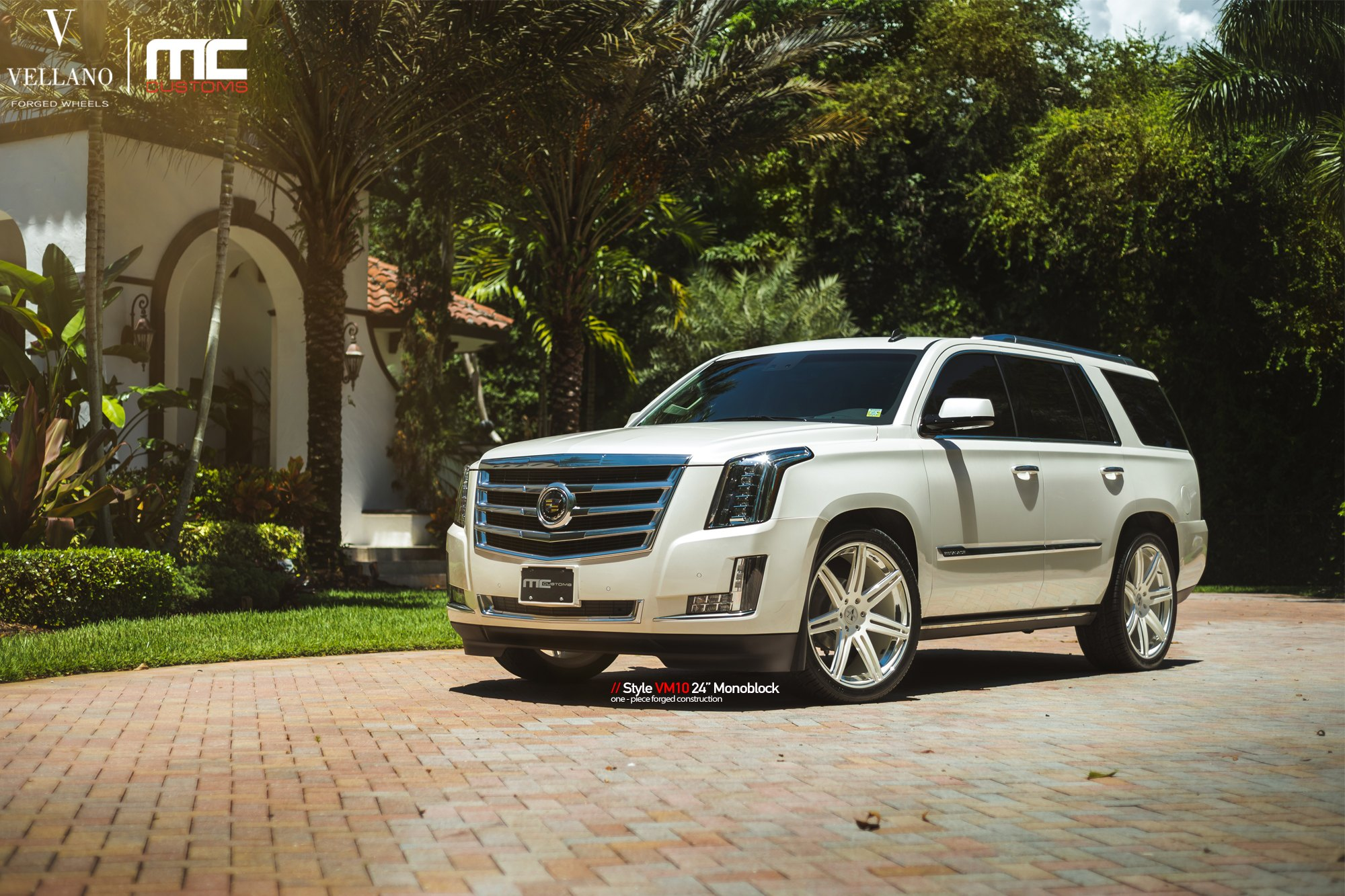 white cadillac escalade enhanced by chrome details and jaw. Black Bedroom Furniture Sets. Home Design Ideas