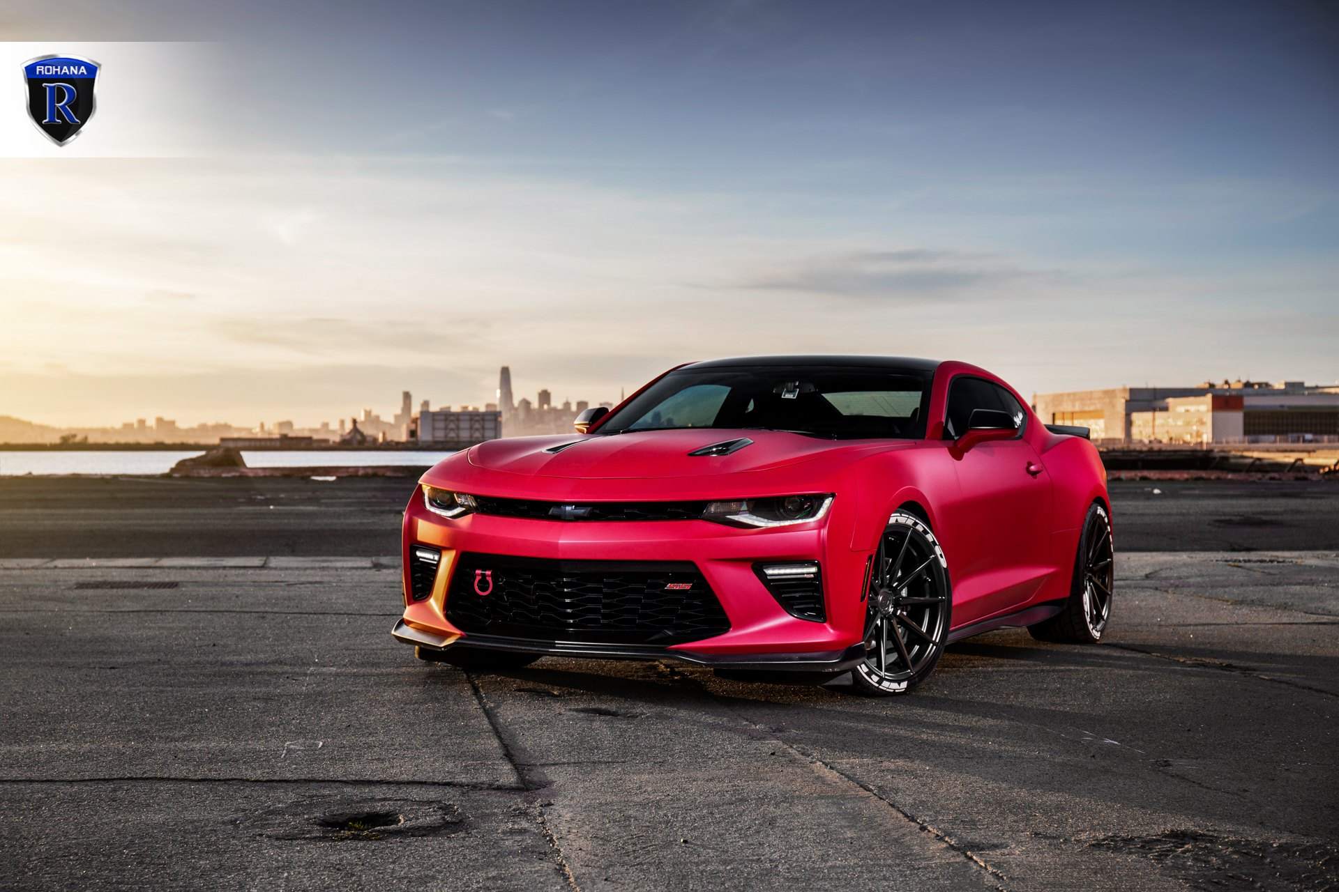 Custom Red Chevy Camaro SS with Nitto Tires - Photo by Rohana