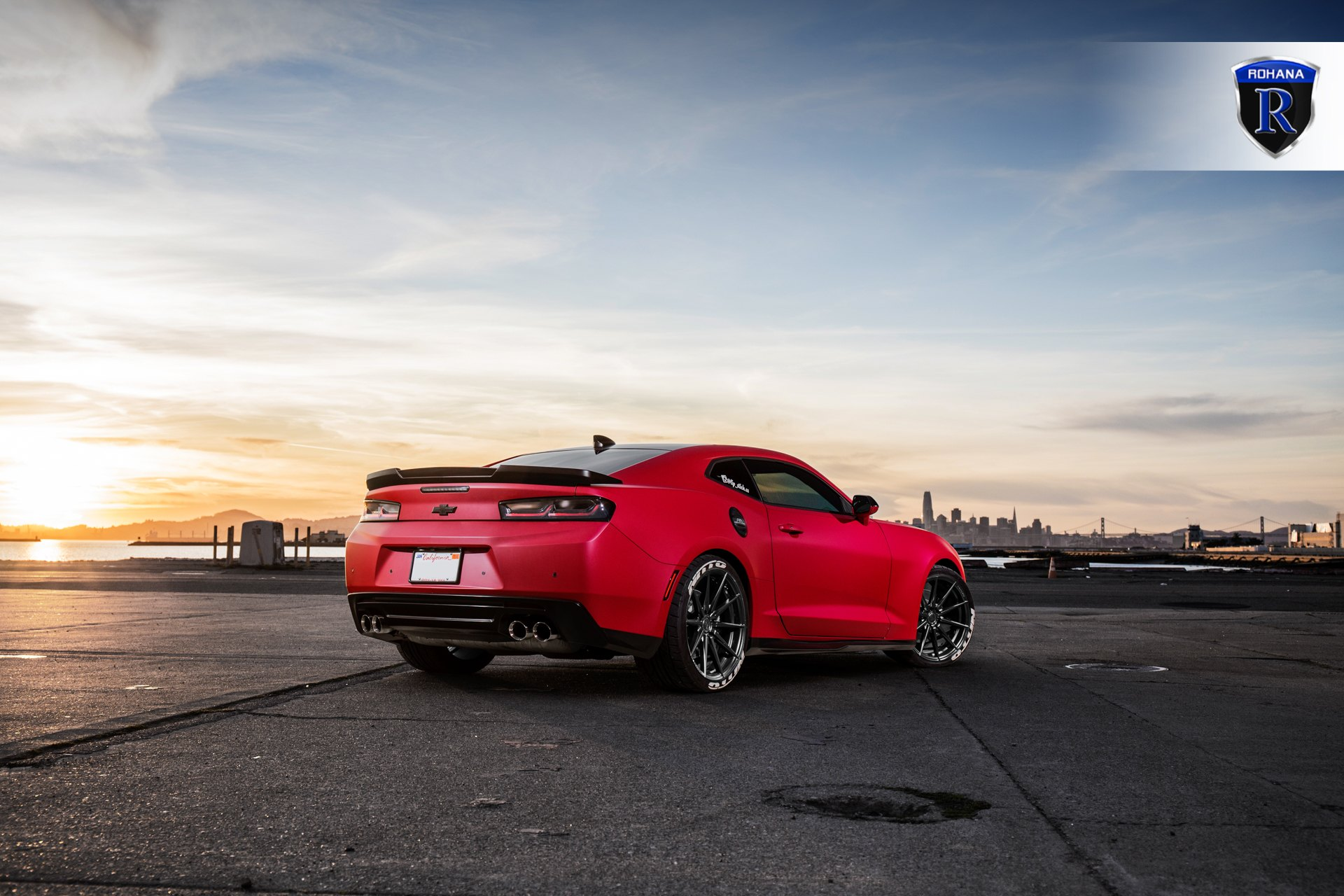 Aftermarket Rear Diffuser on Red Chevy Camaro SS - Photo by Rohana