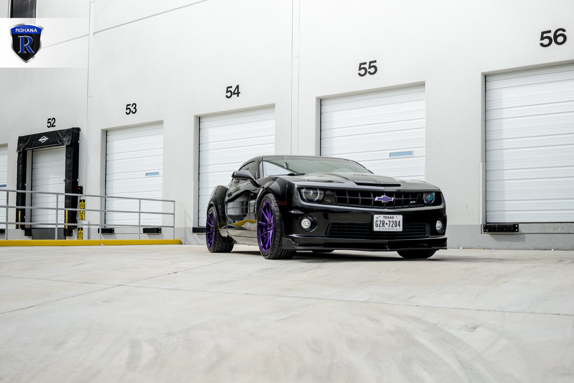Dark Smoke Halo Headlights on Black Chevy Camaro - Photo by Rohana Wheels