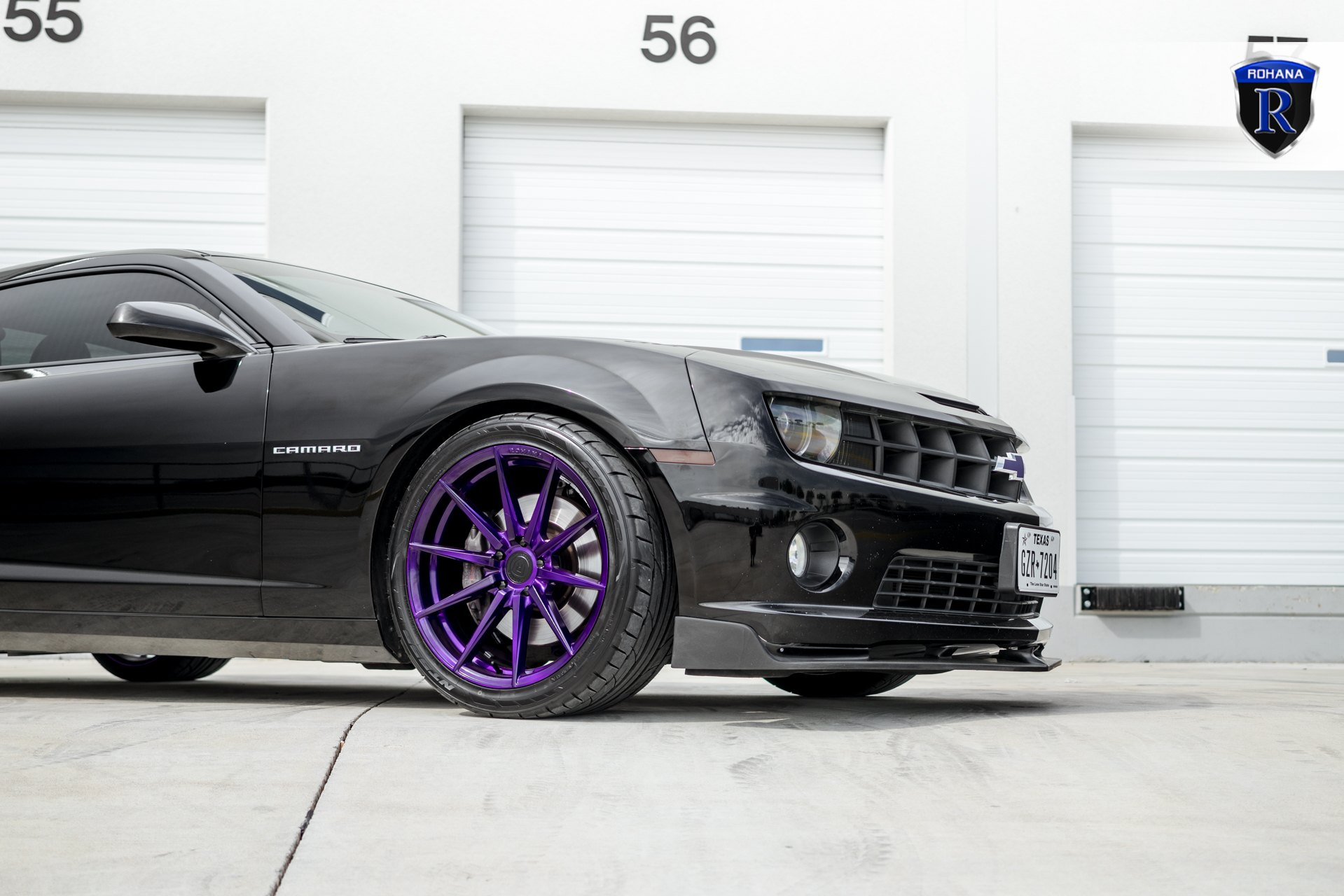 Nitto Tires on Custom Black Chevy Camaro - Photo by Rohana Wheels